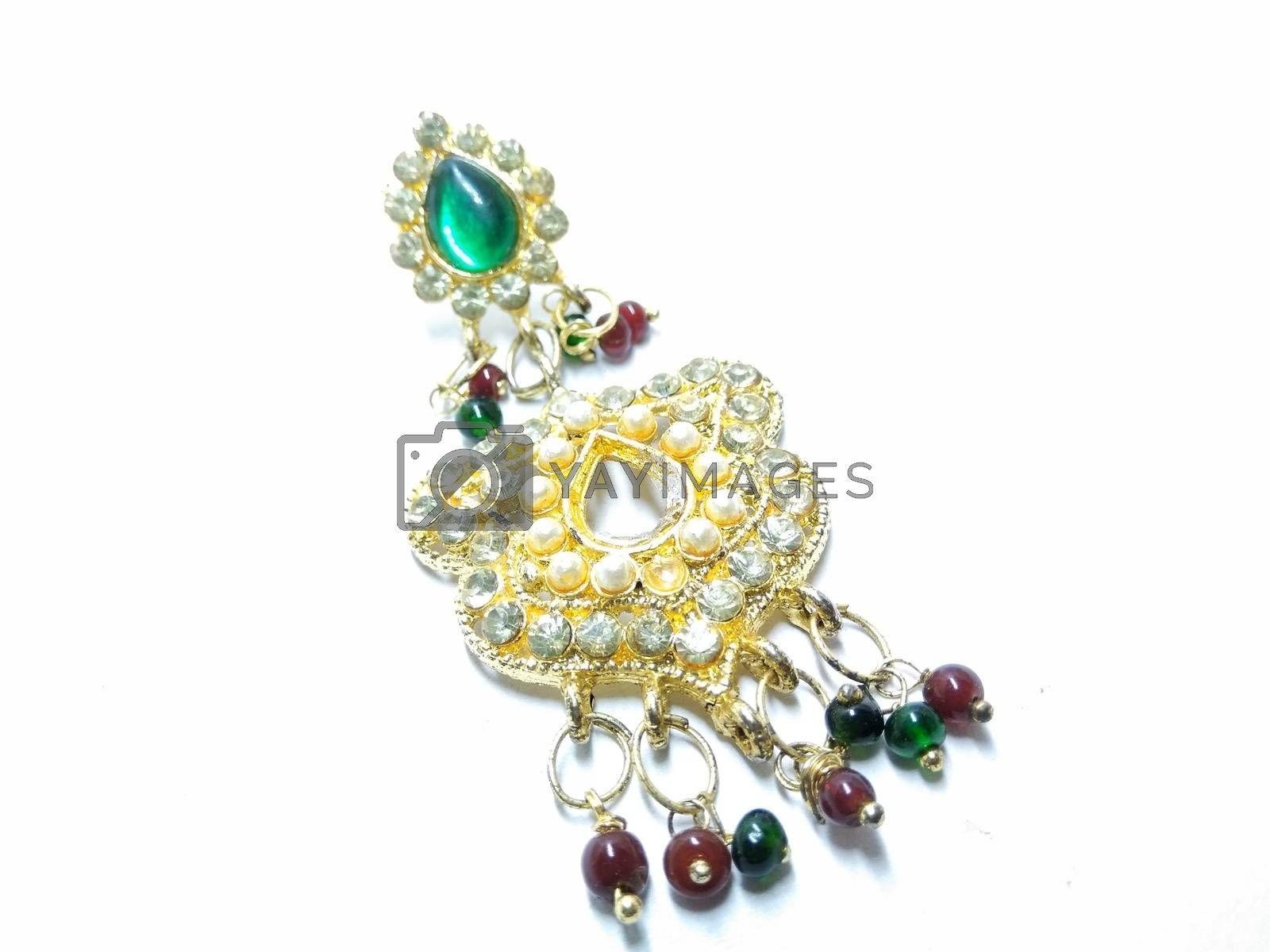 A picture of earrings