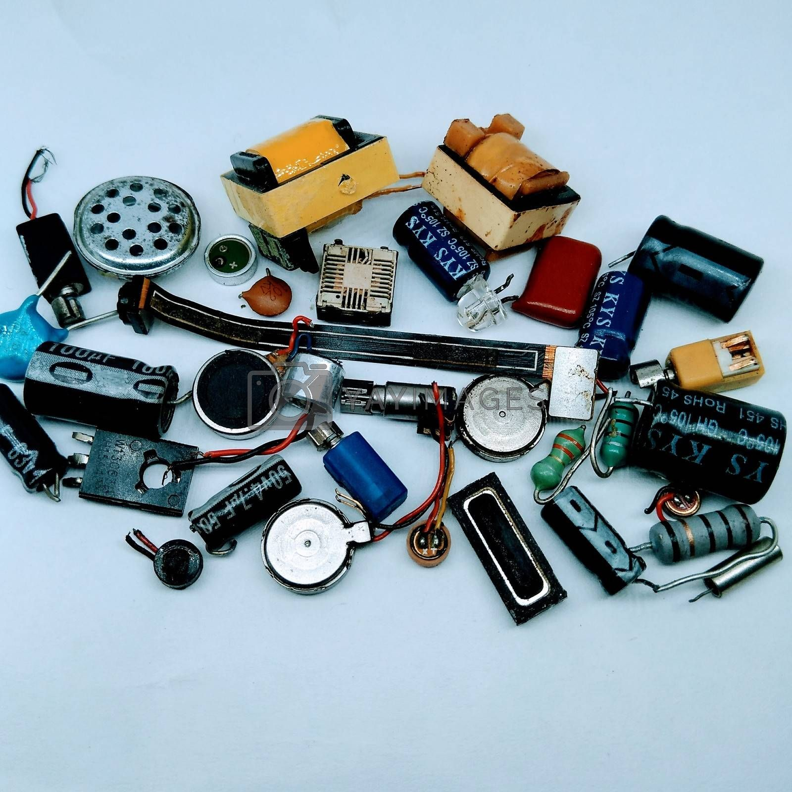 A picture of mobile parts