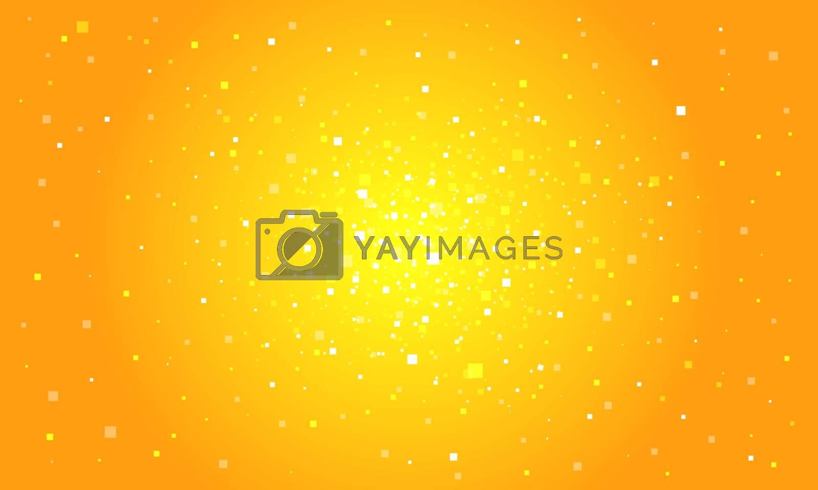 Orange digital background. Pop art retro vector illustration vintage kitsch 50s 60s style