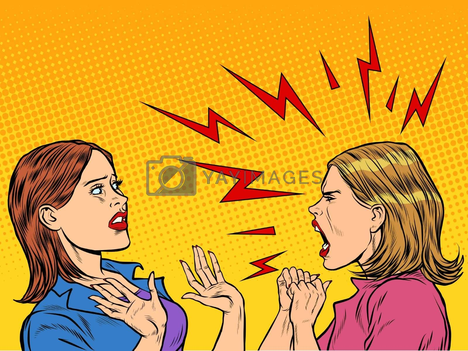 Royalty free image of Two angry women scream by studiostoks