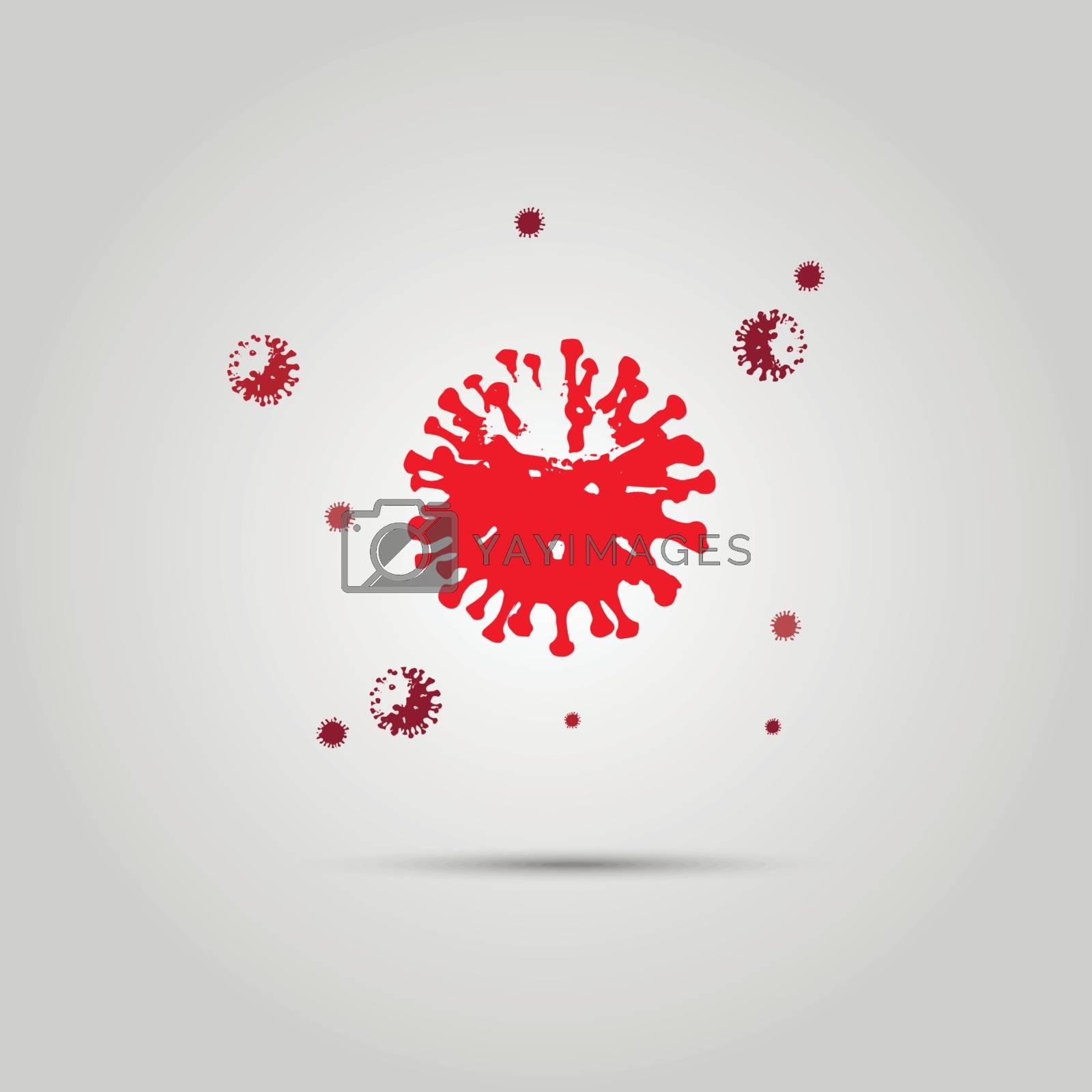 Vector Novel Coronavirus 2019-nCoV . Virus Covid 19-NCP. 10 eps