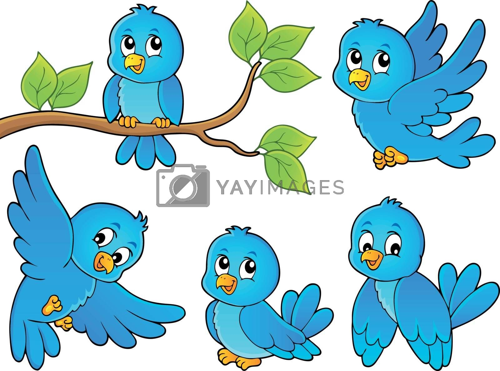 Happy birds theme image 1 - eps10 vector illustration.