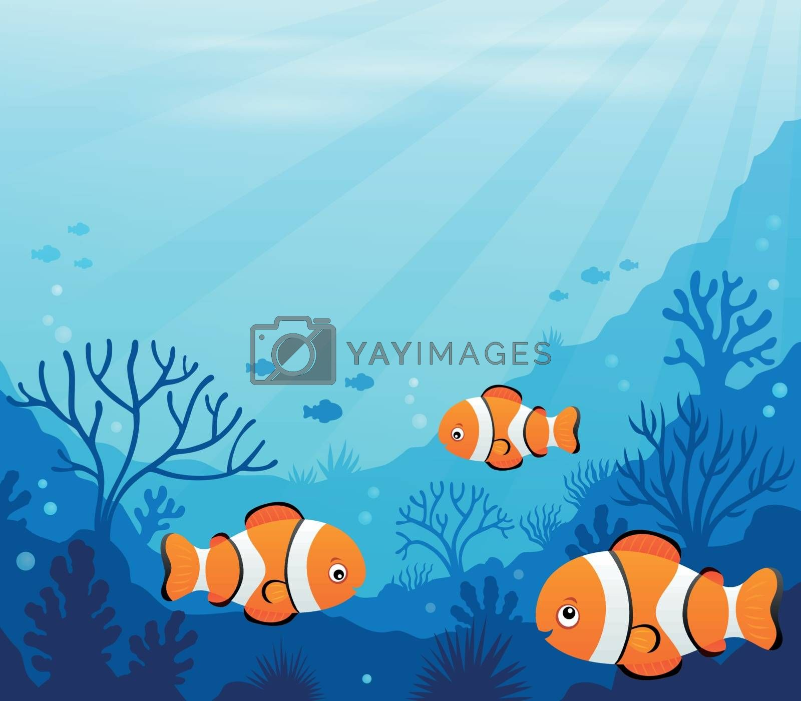 Ocean underwater theme background 7 - eps10 vector illustration.