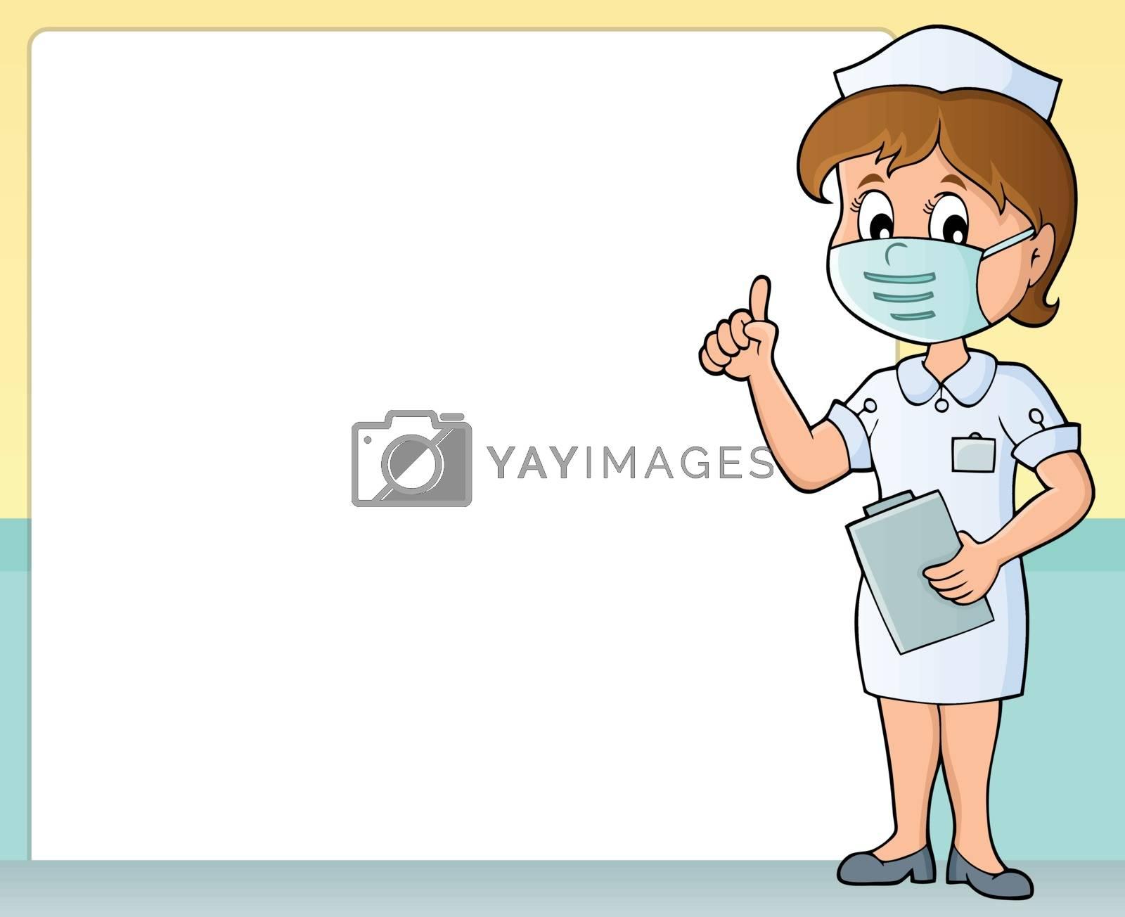 Nurse theme frame 1 - eps10 vector illustration.