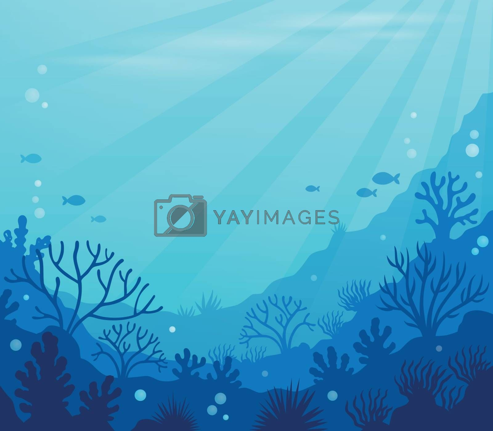 Ocean underwater theme background 8 - eps10 vector illustration.
