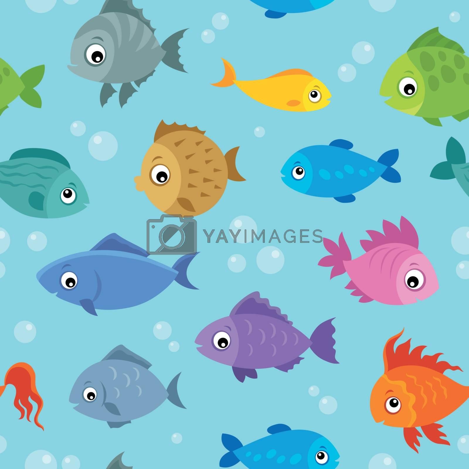 Seamless background stylized fishes 3 - eps10 vector illustration.