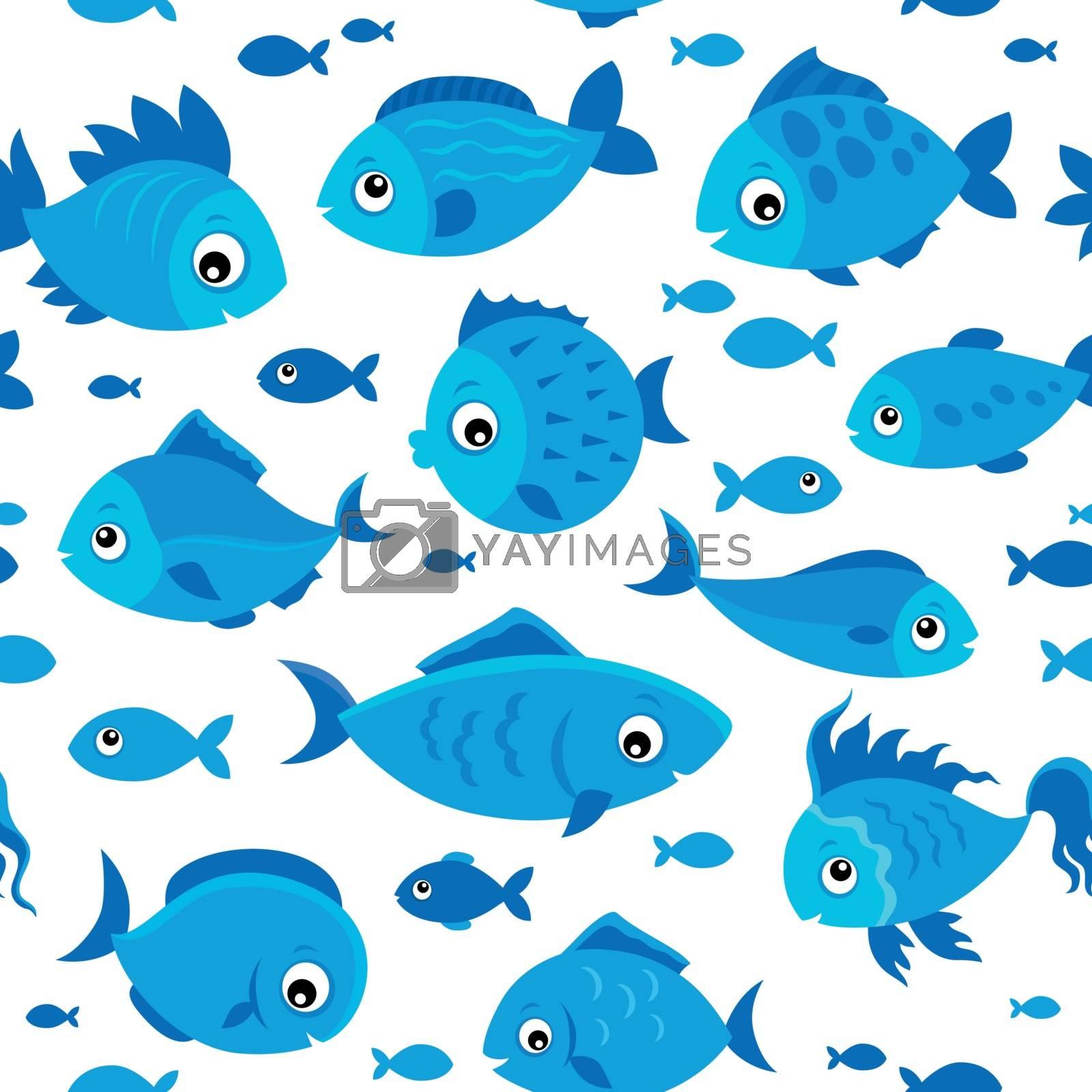 Seamless background stylized fishes 6 - eps10 vector illustration.