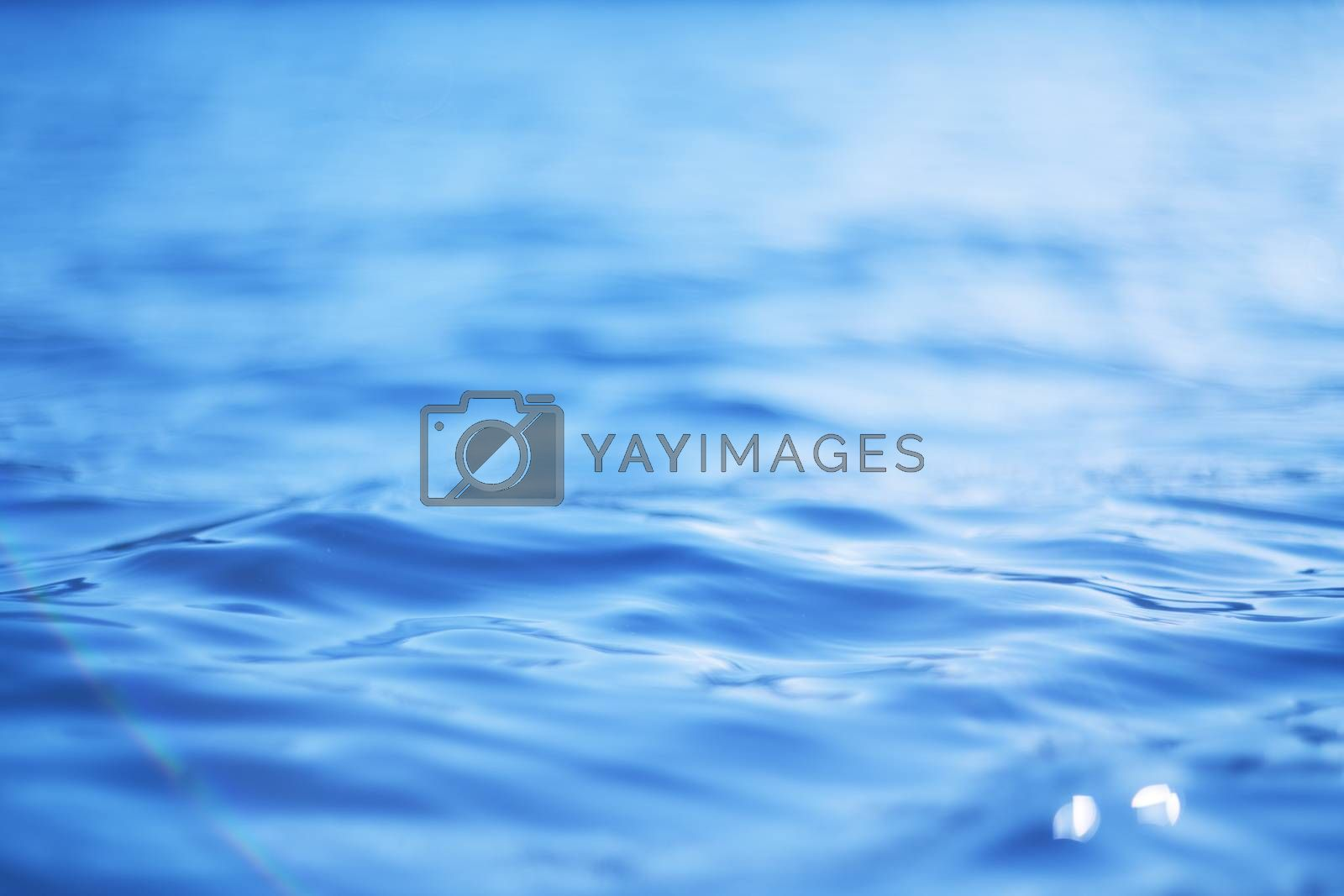 Bokeh light water background in nature silent lake