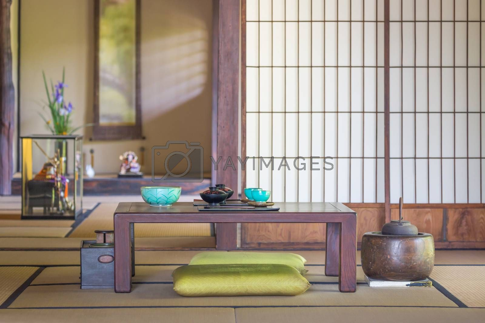 Traditional Interior Japanese Dining and Other Room.