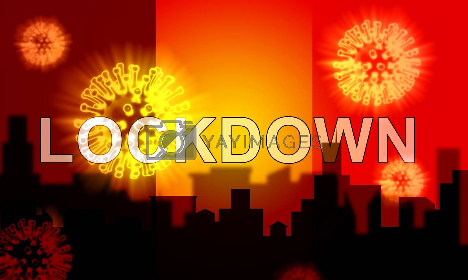 Belgium lockdown to control coronavirus epidemic or outbreak. Covid 19 belgian restriction to lock down disease infection - 3d Illustration