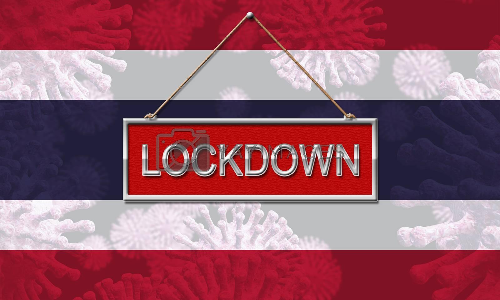 Thailand lockdown or shut down for ncov epidemic - 3d Illustrati by stuartmiles