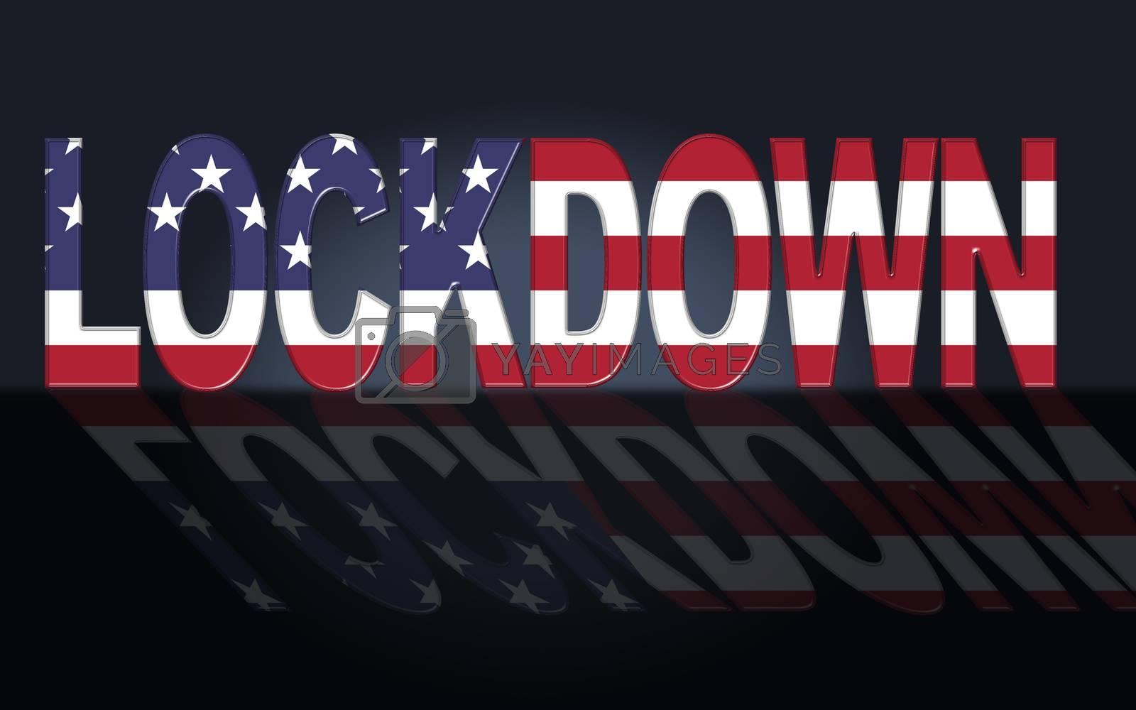 America lockdown or shutdown from ncov epidemic outbreak - 3d Il by stuartmiles