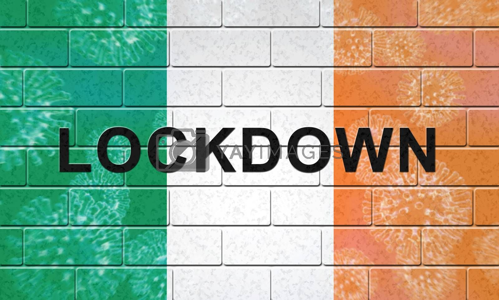 Ireland lockdown or curfew to stop covid19 epidemic - 3d Illustr by stuartmiles