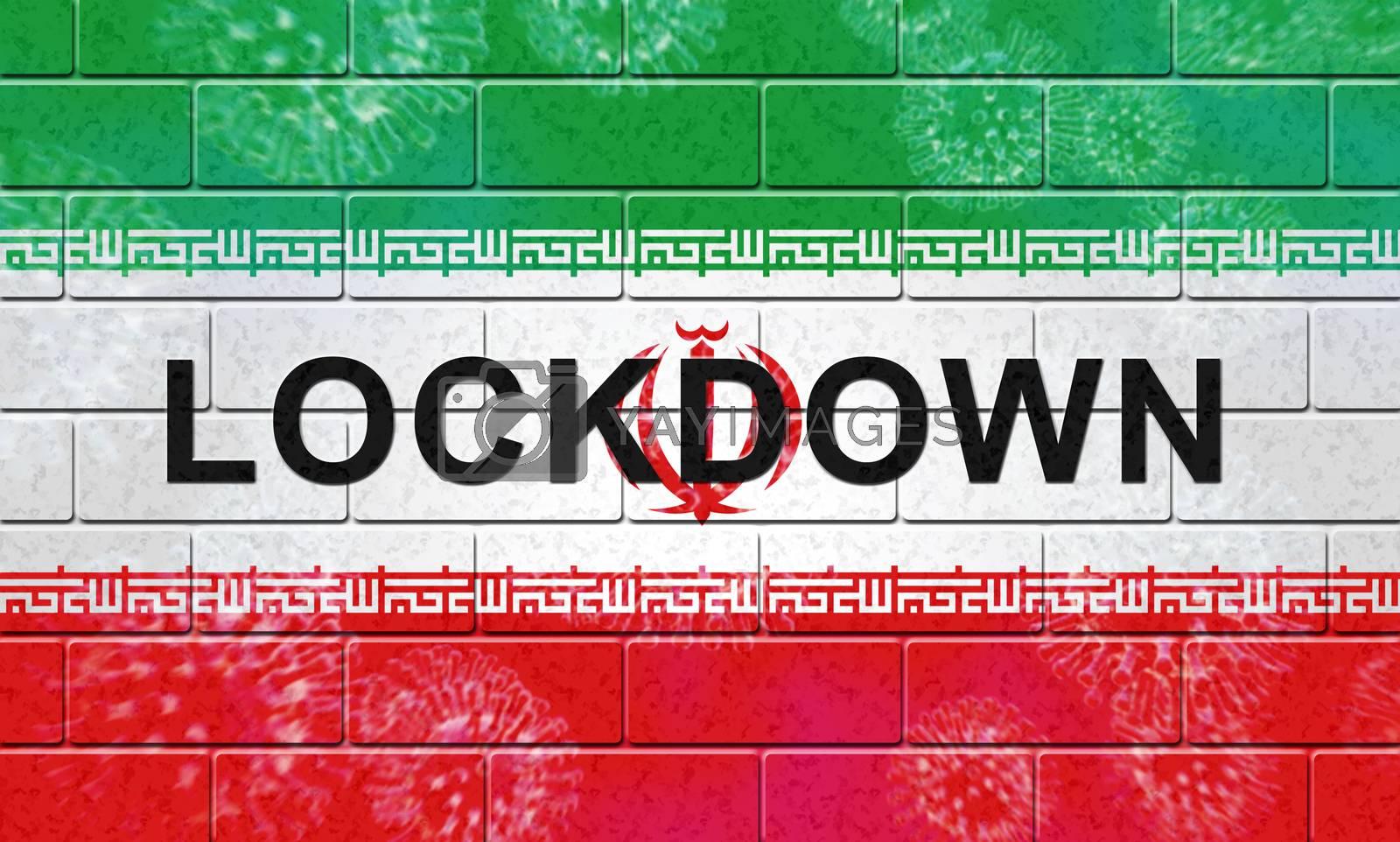 Iran lockdown preventing coronavirus spreading and outbreak - 3d by stuartmiles