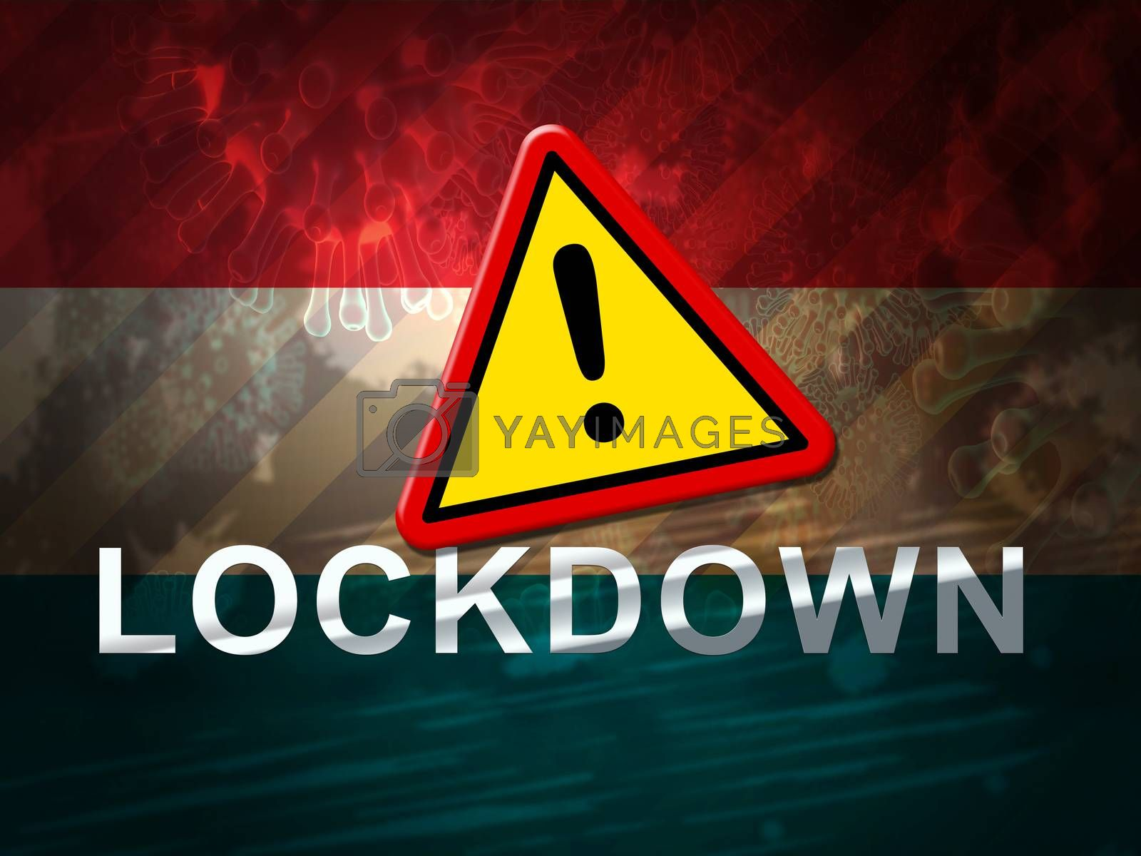 Luxembourg lockdown sign against coronavirus covid-19 - 3d Illus by stuartmiles