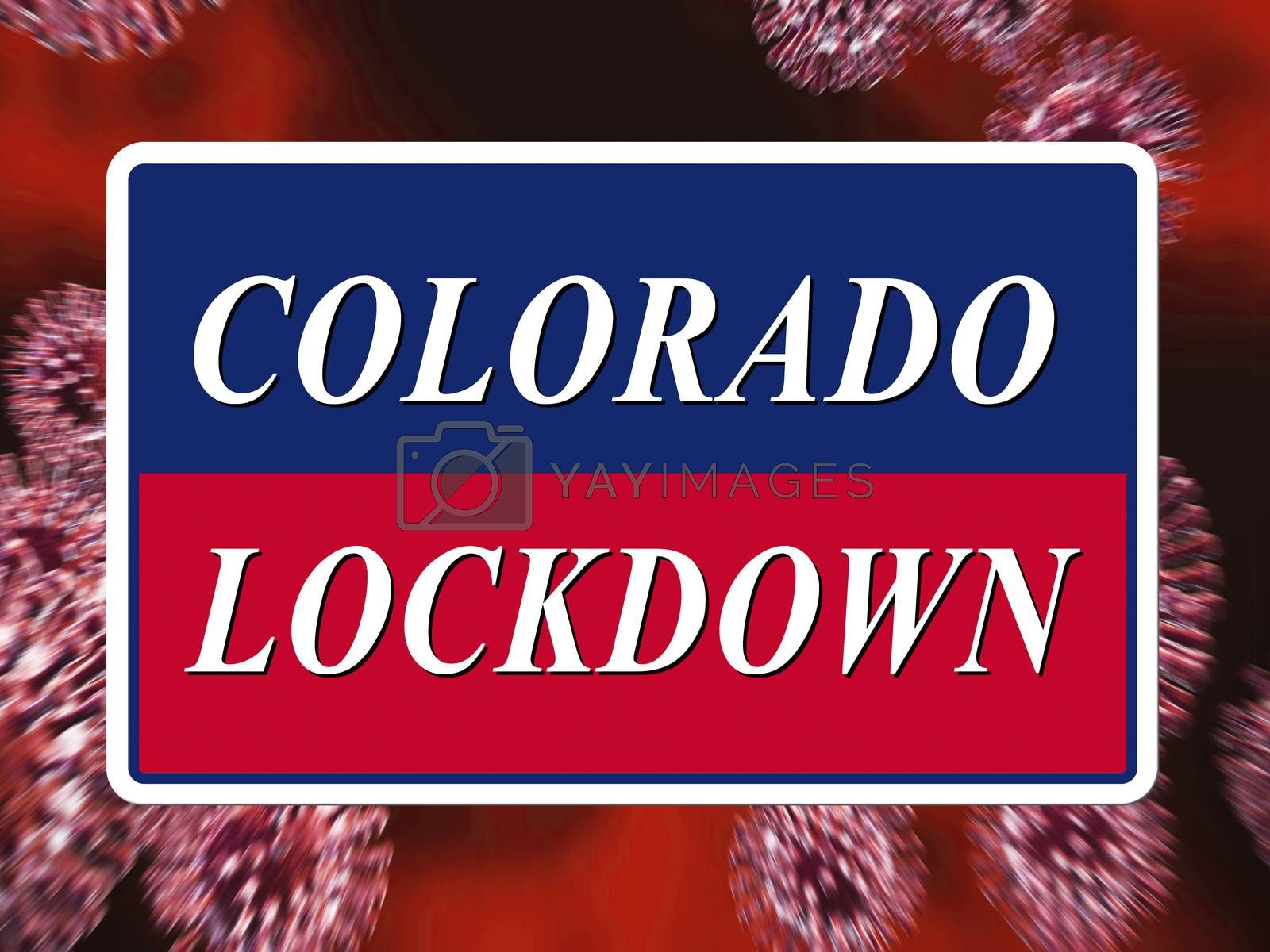 Colorado lockdown means curfew from coronavirus covid19 - 3d Ill by stuartmiles