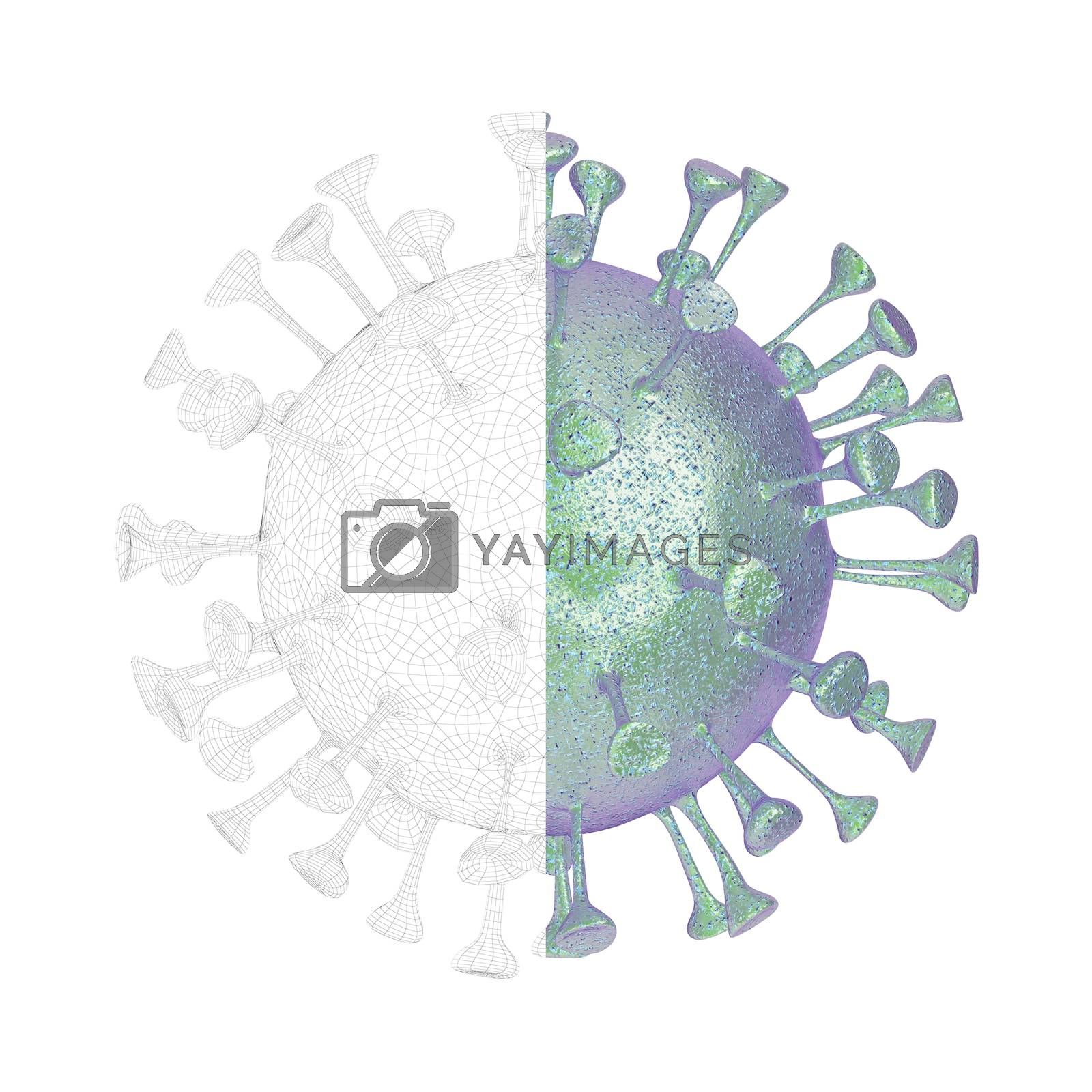3D render of virus by magraphics
