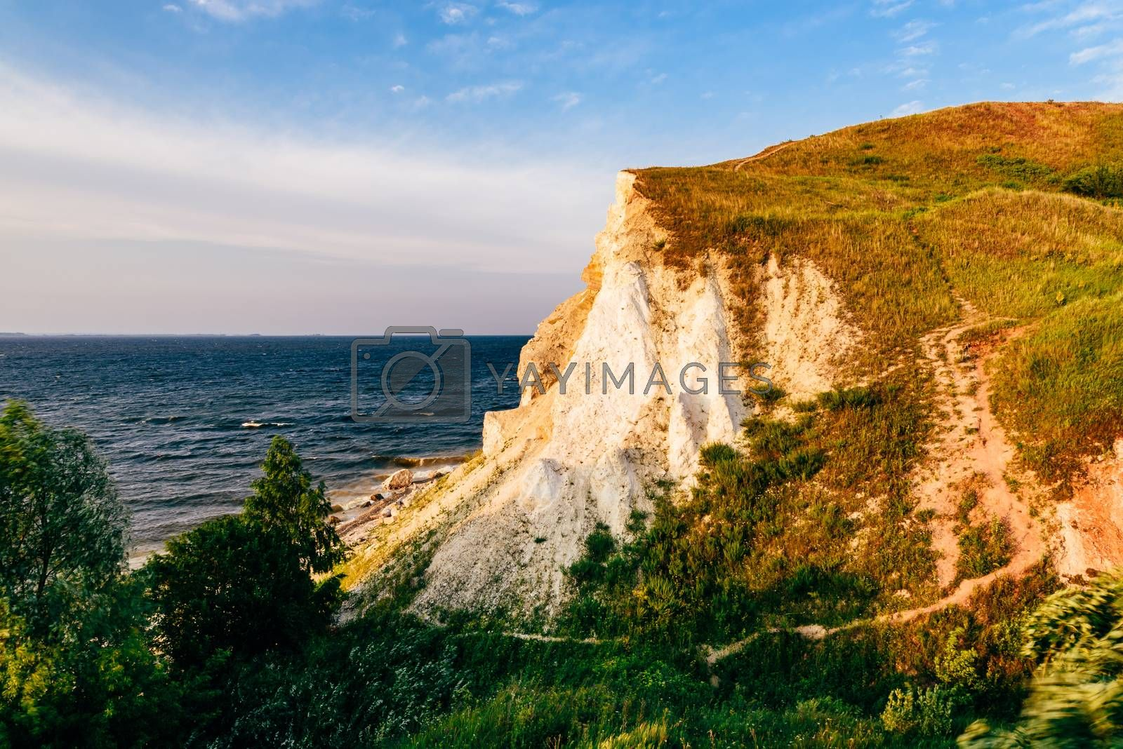 Landscape of a cliff next to the river by Seva_blsv