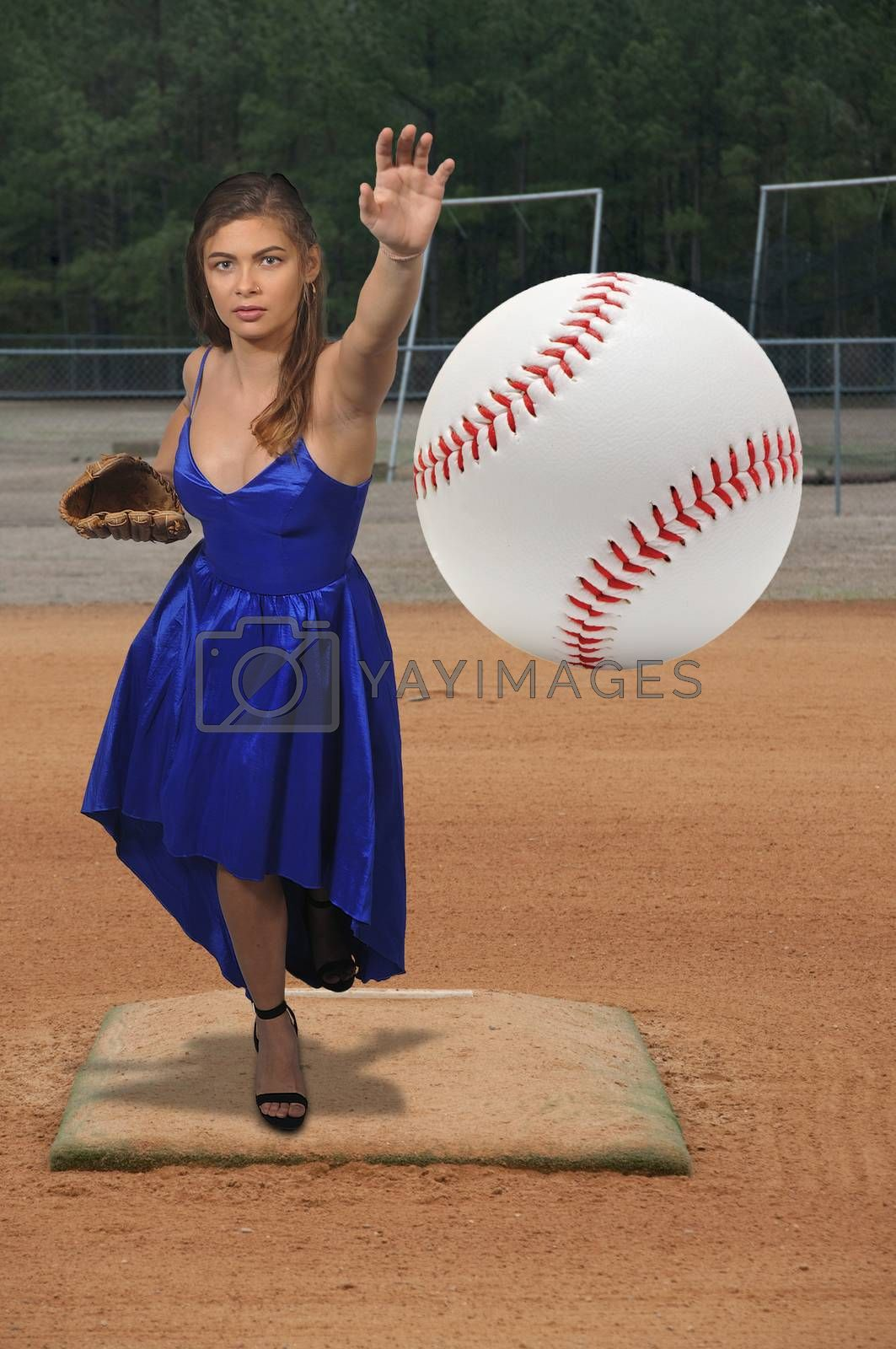 Woman Baseball Player by robeo