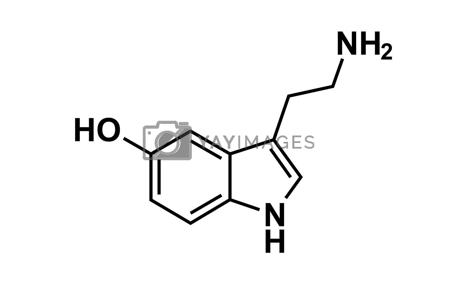 serotonin chemical formula science symbol elements reaction