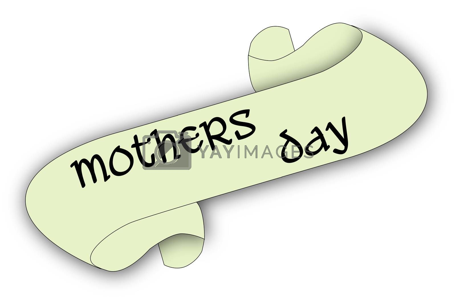 A mothers day message scroll