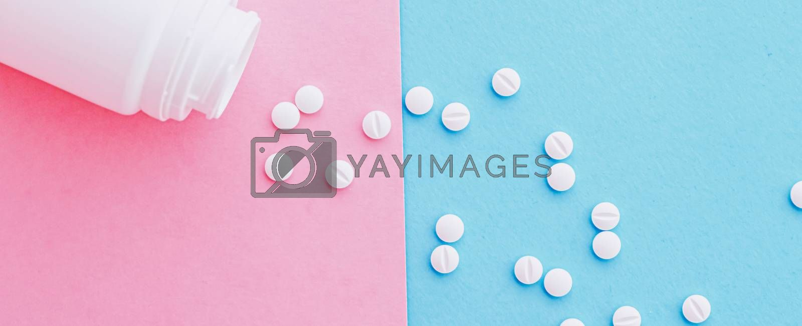 Medical pills and drugs, medicine for health care and clinical therapy