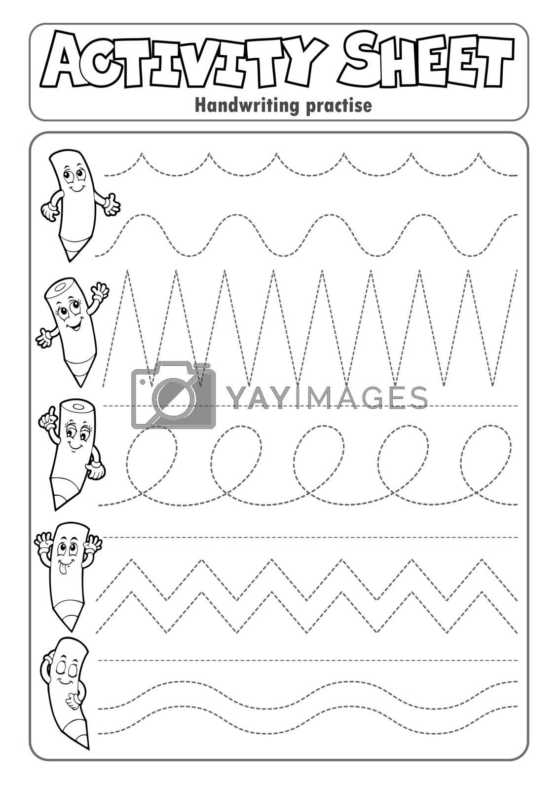 Activity sheet handwriting practise 2 - eps10 vector illustration.