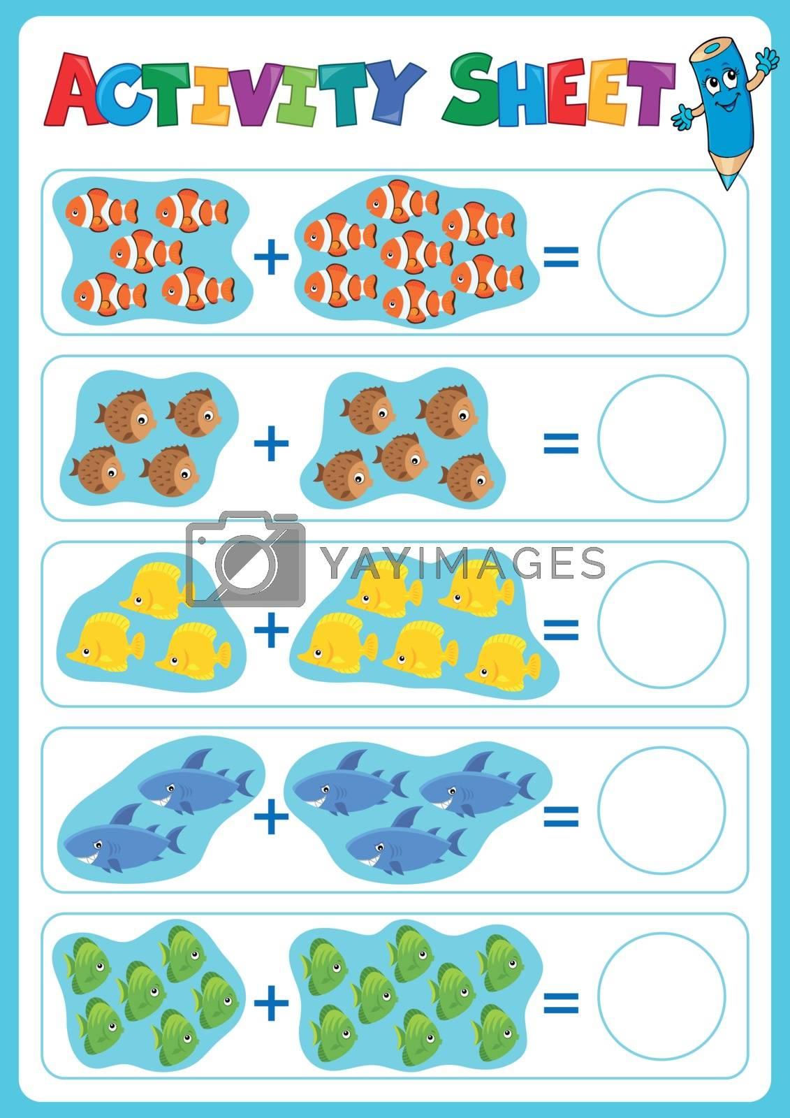 Activity sheet topic image 5 - eps10 vector illustration.