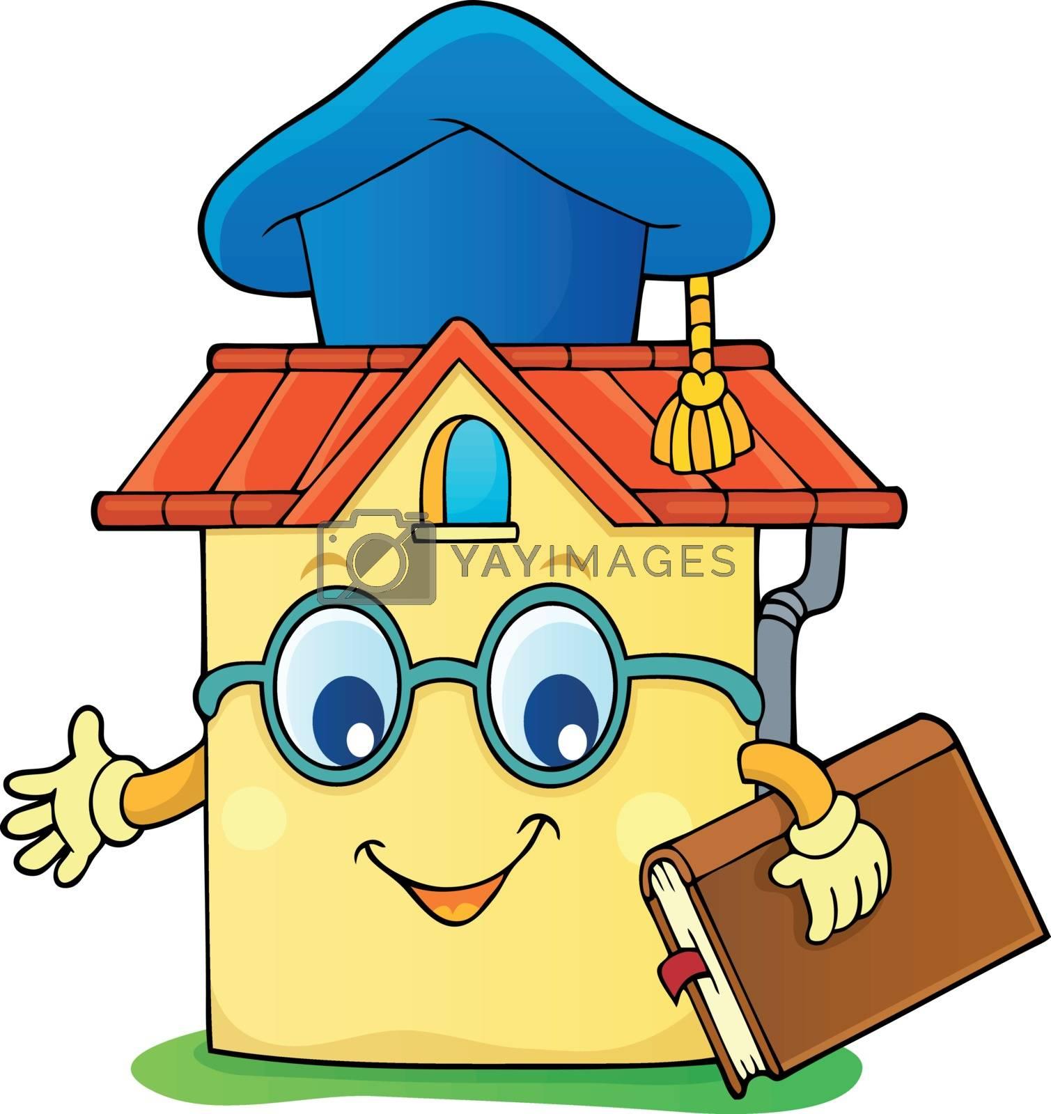 Home schooling theme image 4 - eps10 vector illustration.
