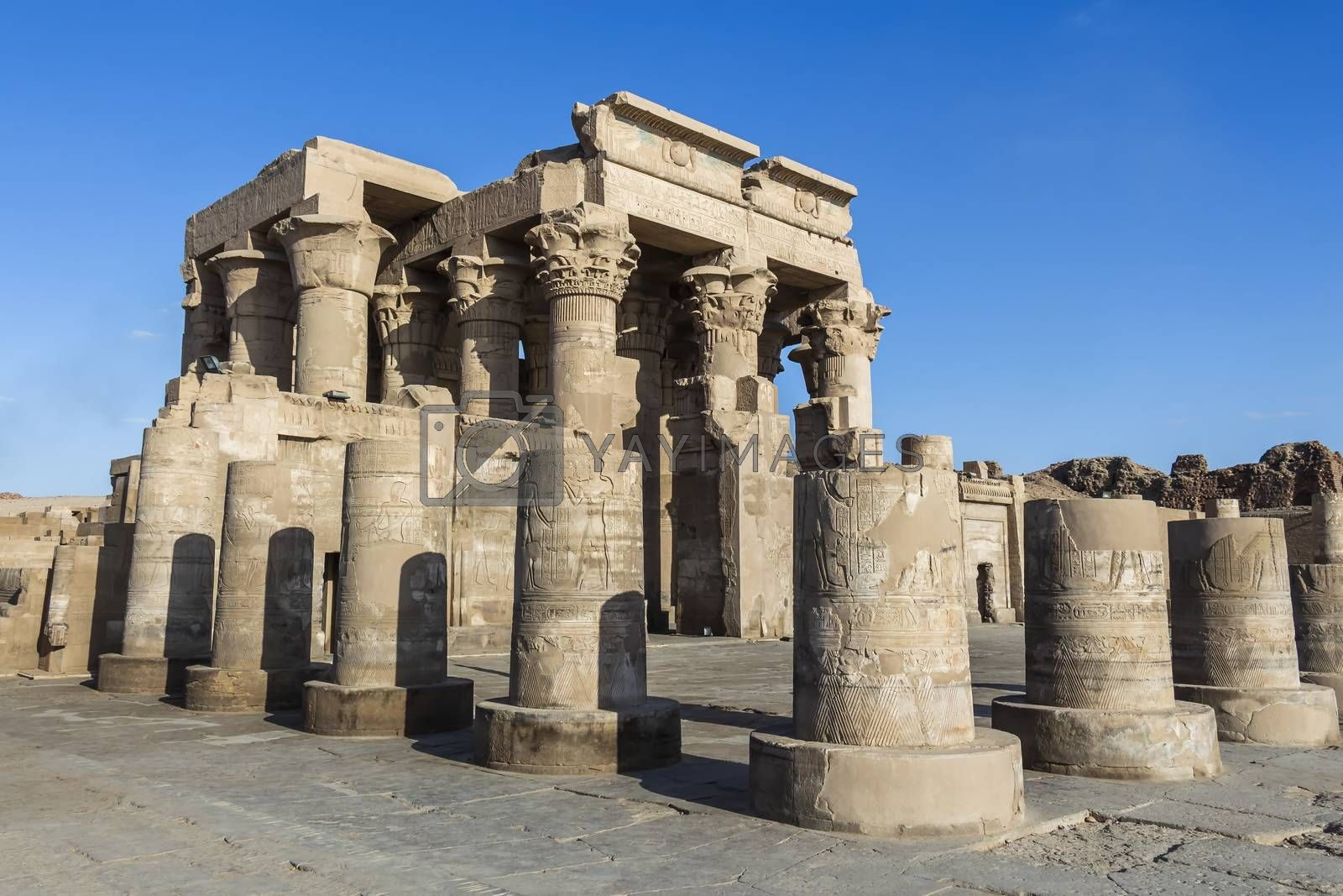 The Temple of Kom Ombo in Aswan, dedicated to ancient Egyptian gods Sobek and Horus