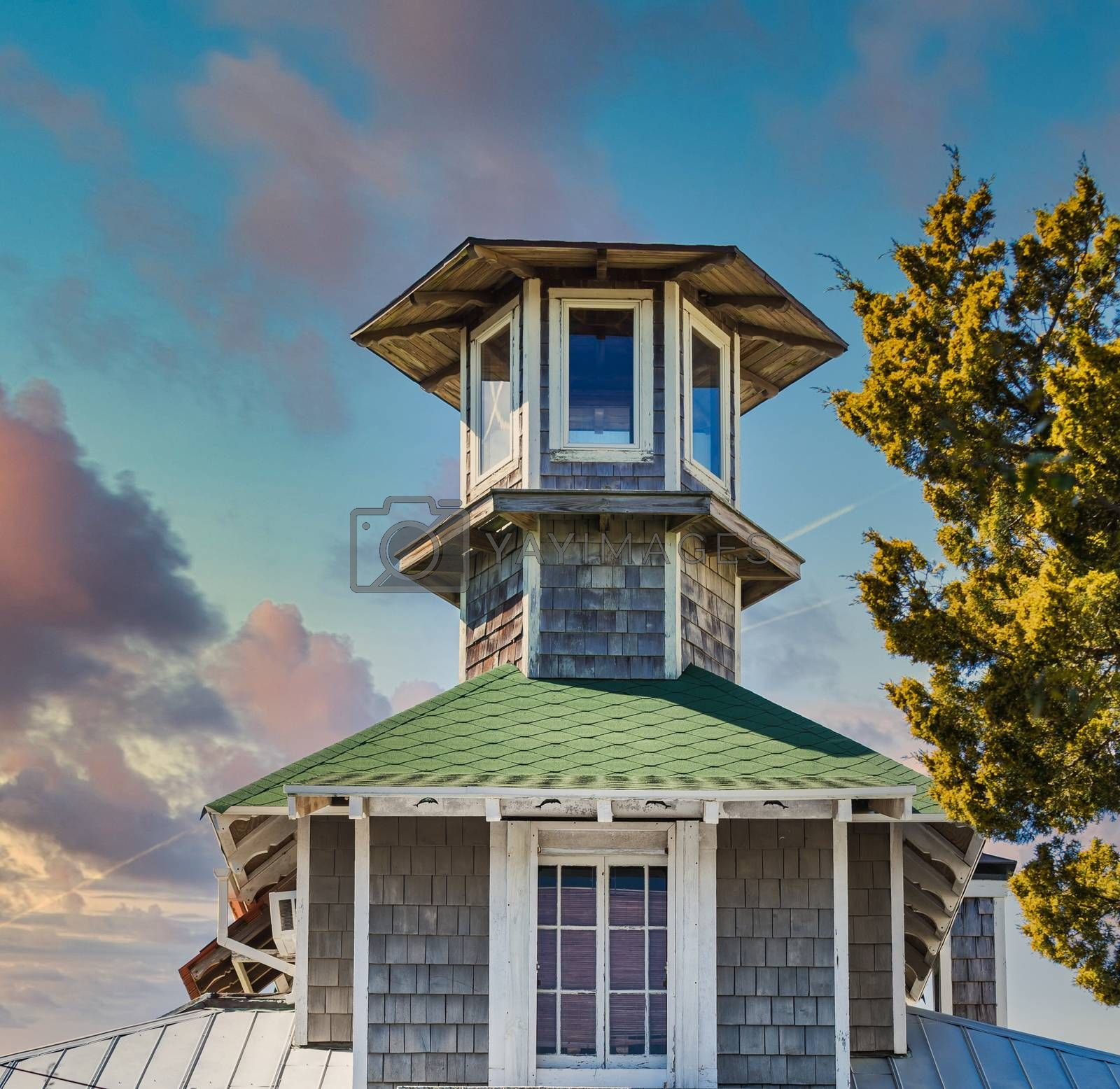 Cupola of Wood with Green Shingles by dbvirago