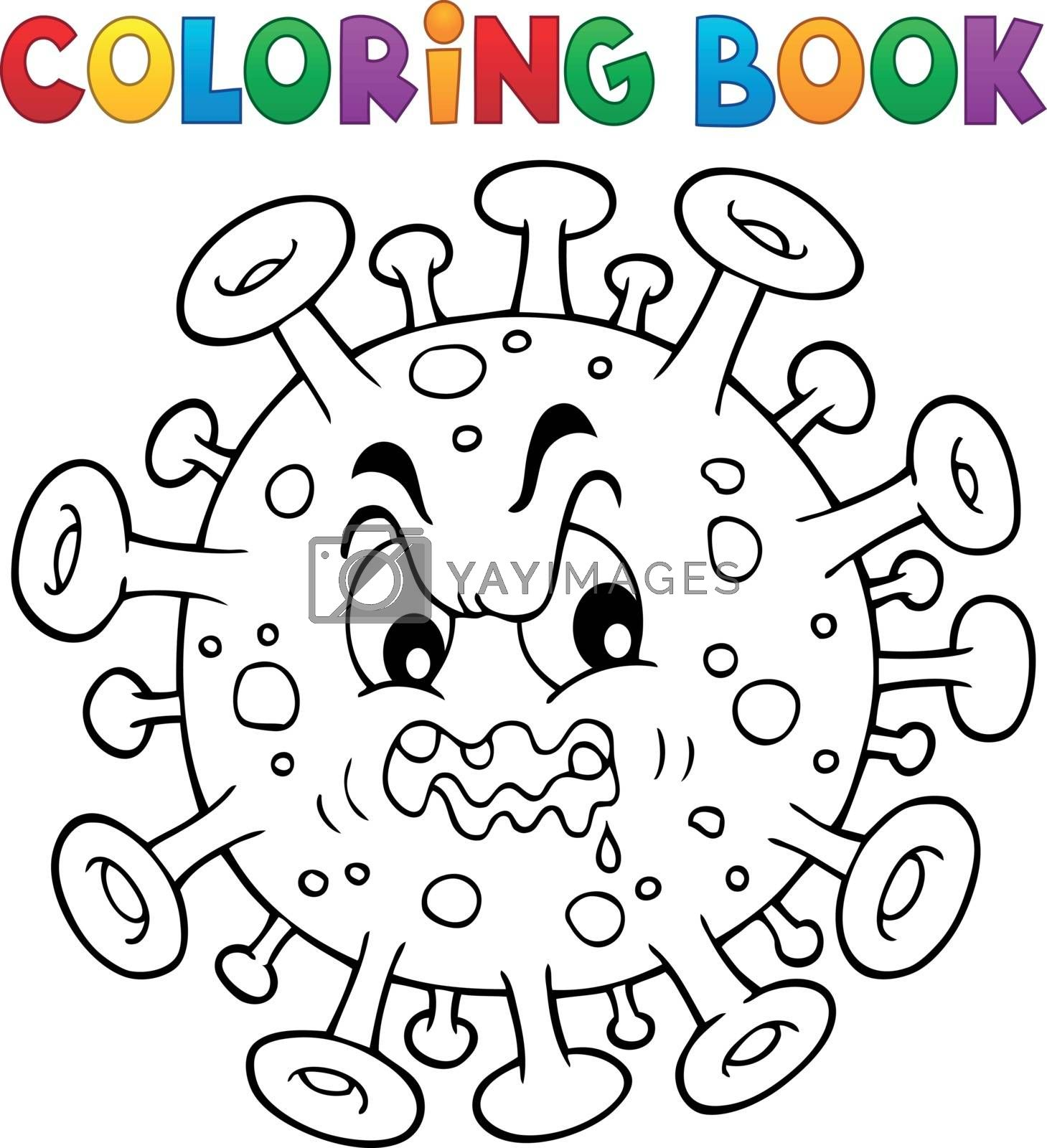 Coloring book virus theme 1 - eps10 vector illustration.