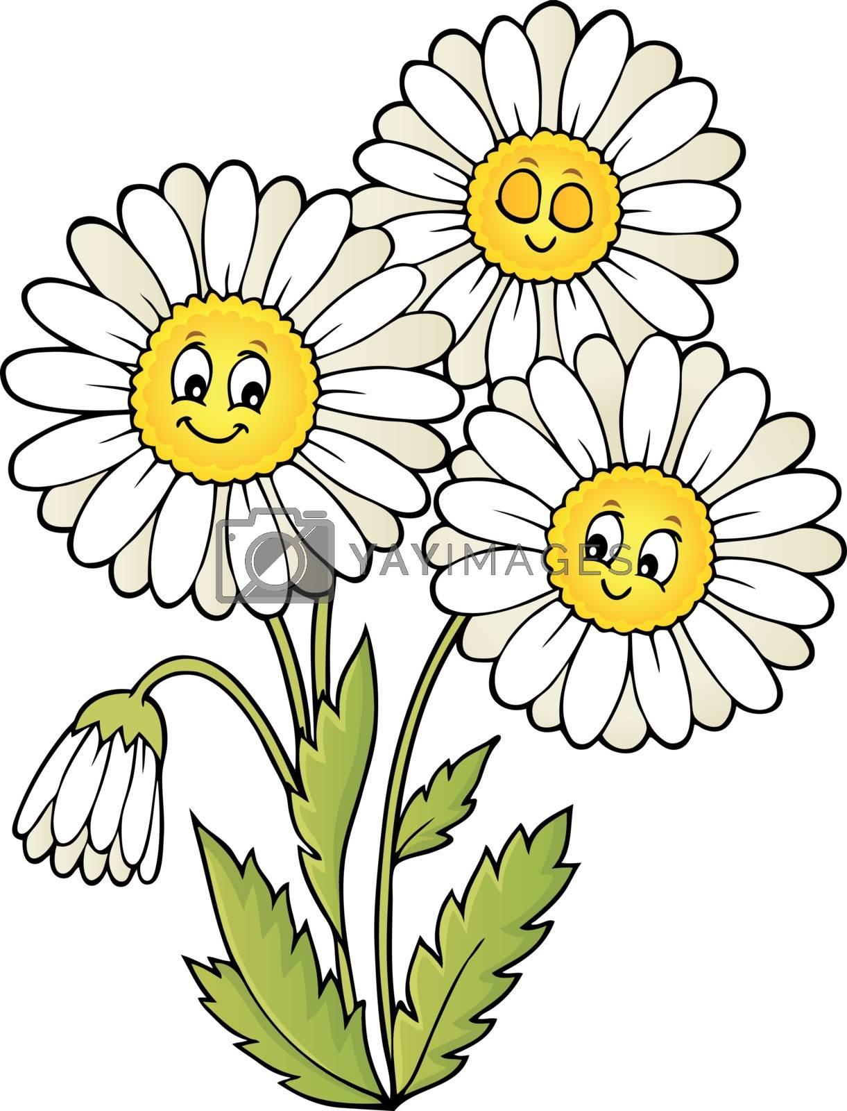 Daisy flower theme image 1 - eps10 vector illustration.
