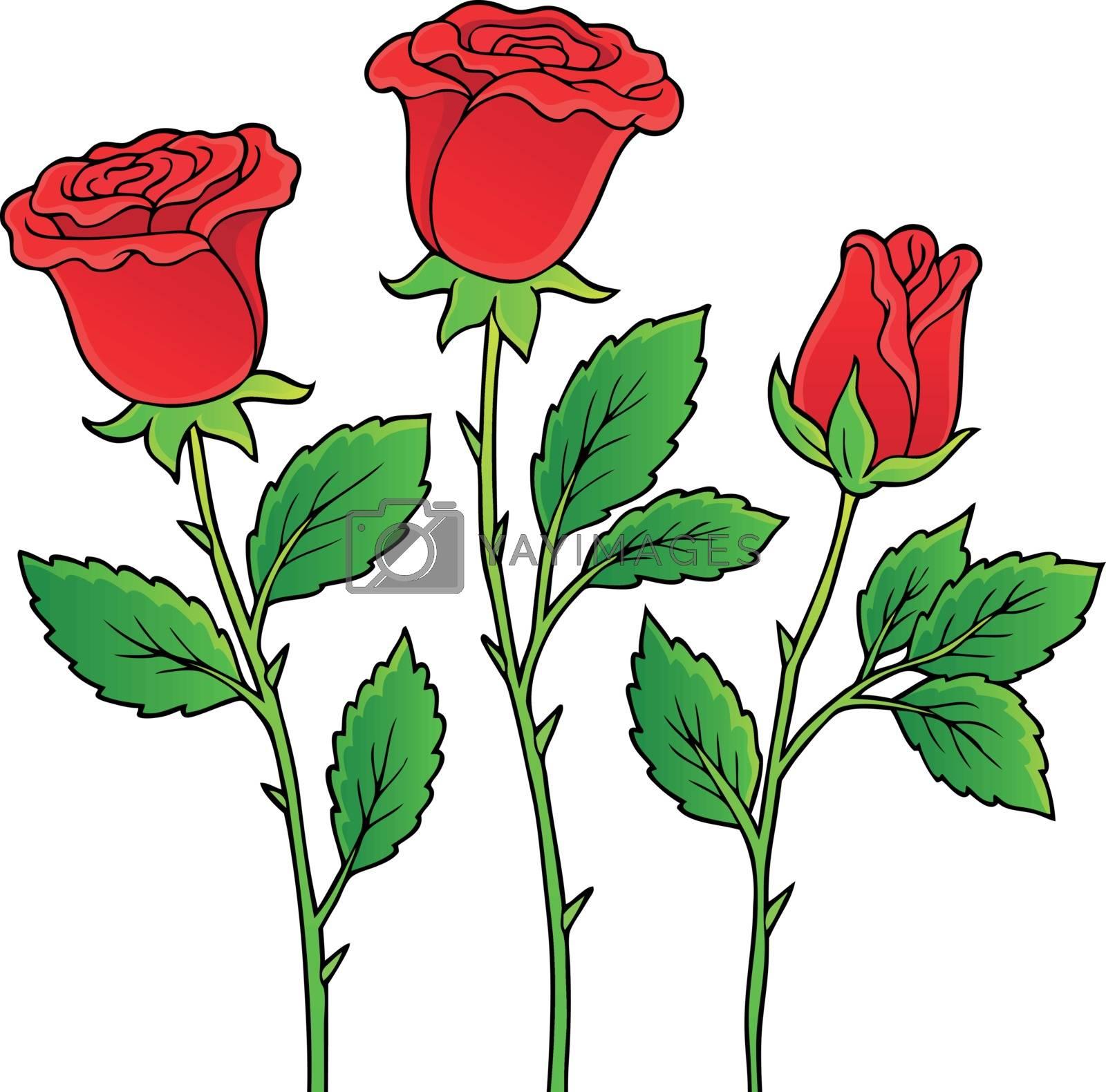 Rose flower theme image 1 - eps10 vector illustration.