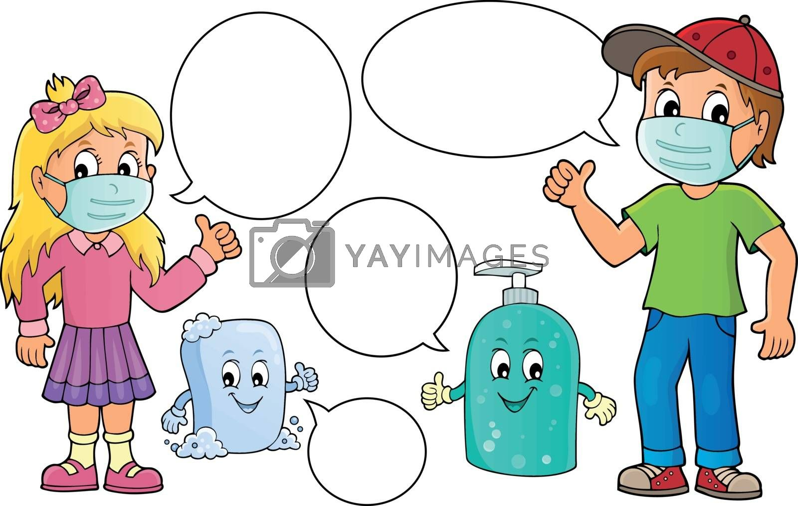 Virus prevention theme set 2 - eps10 vector illustration.