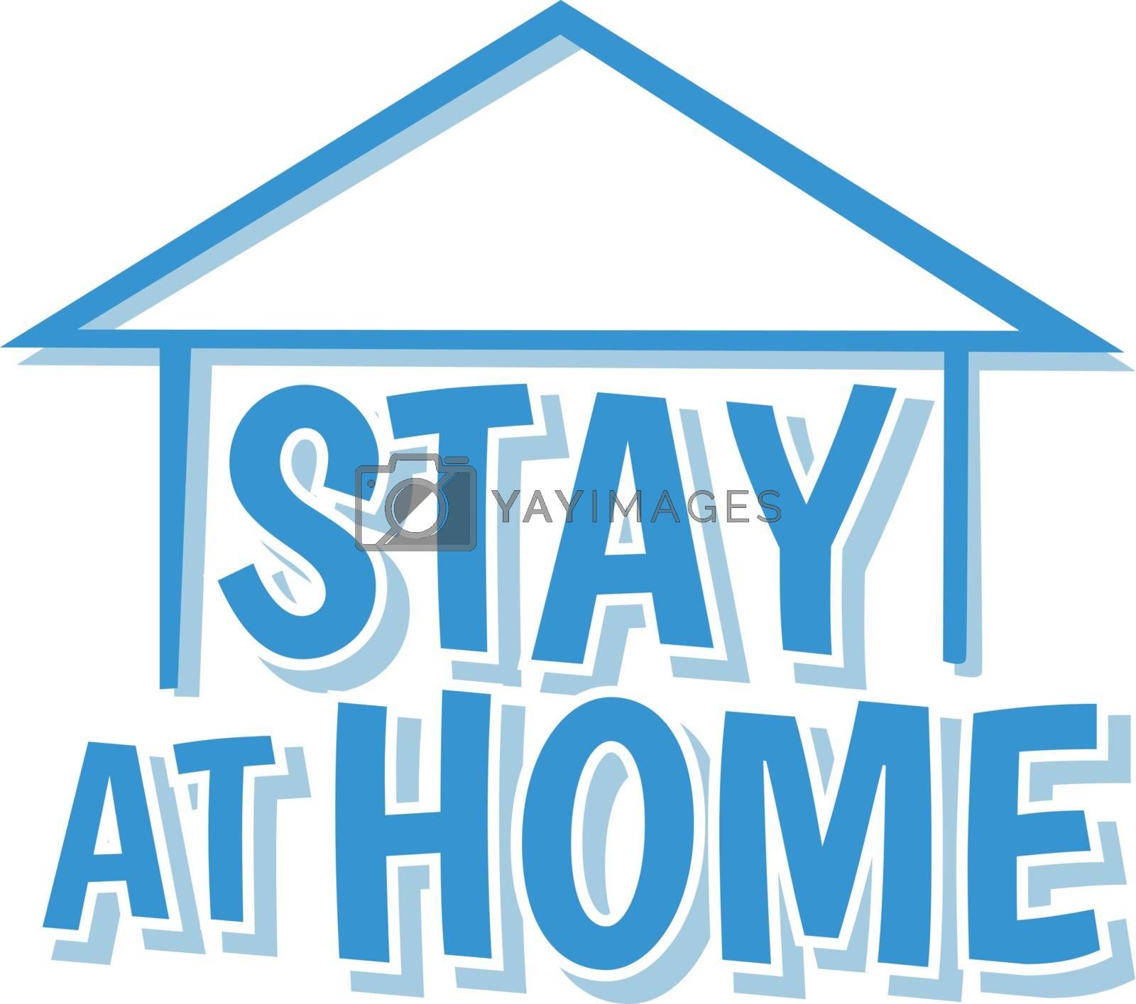 stay at home concept coronavirus quarantine vector art