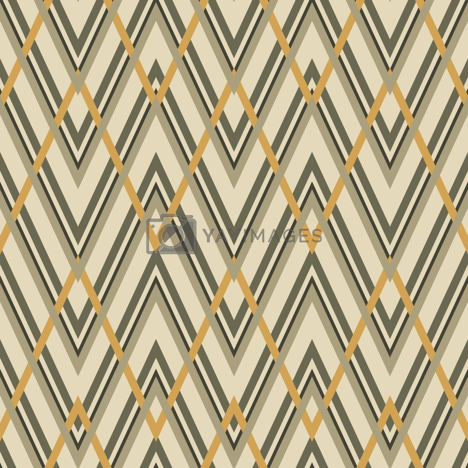 Geometric zigzag seamless pattern. Vector illustration. Abstract ethnic ornament