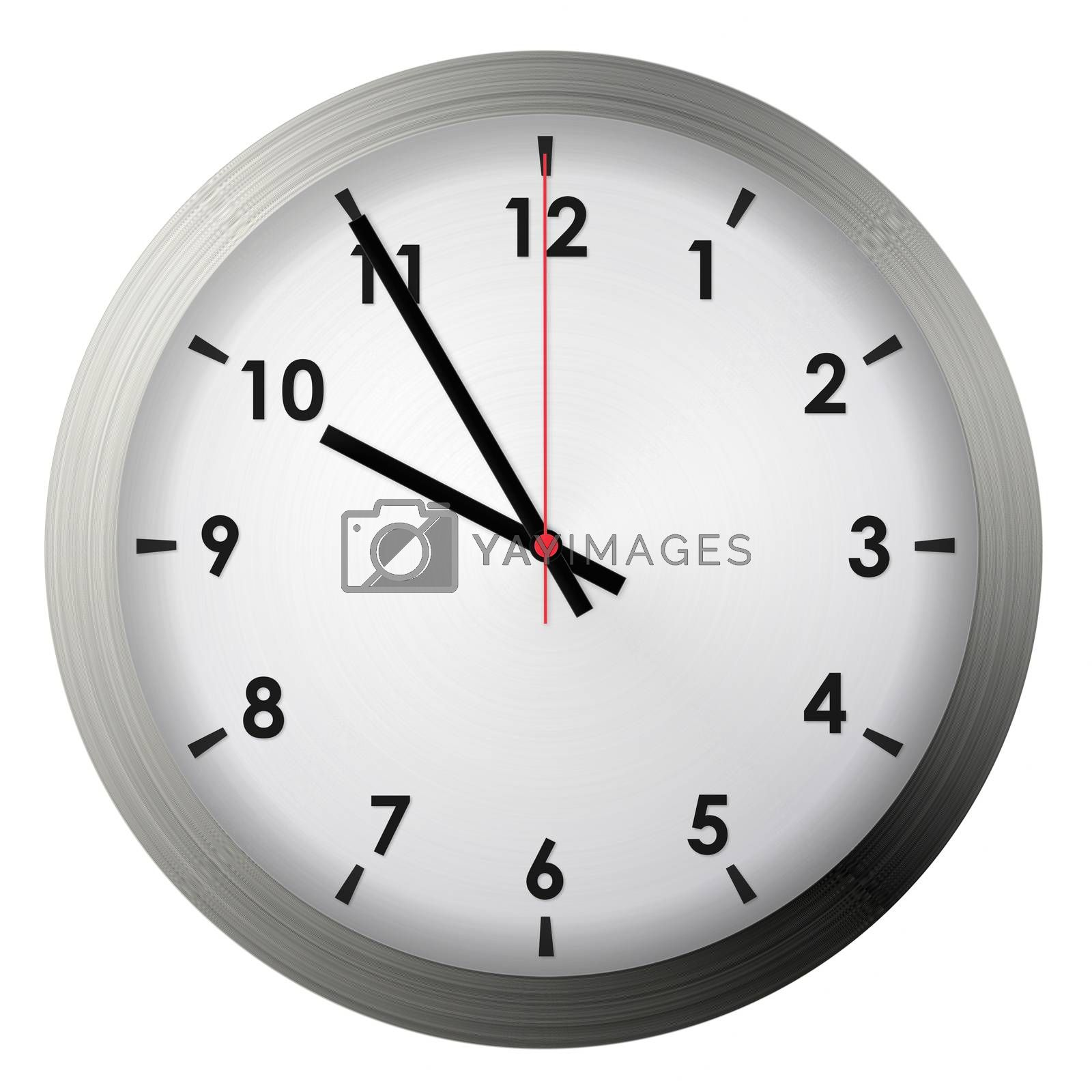 Analog metal wall clock by szefei