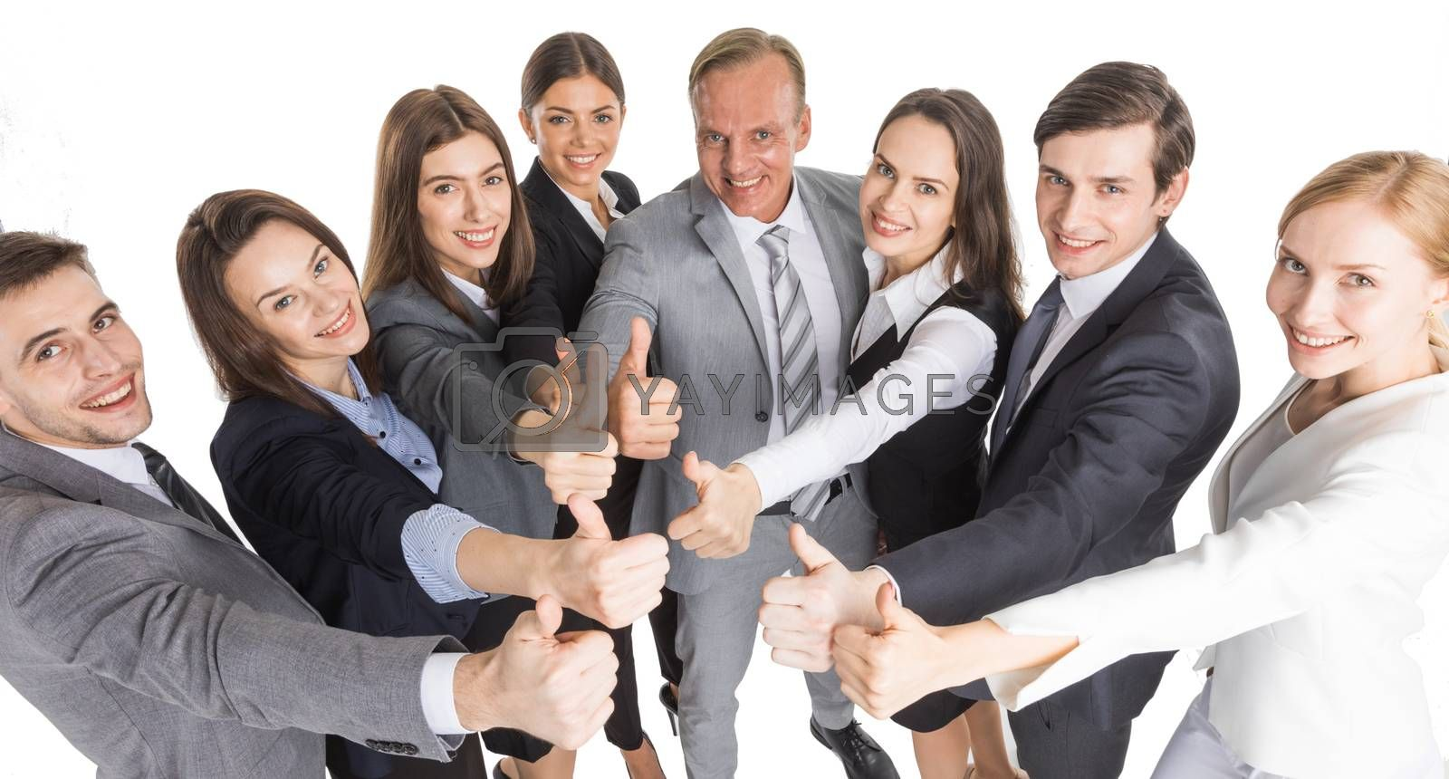 Business people with thumb up by Yellowj