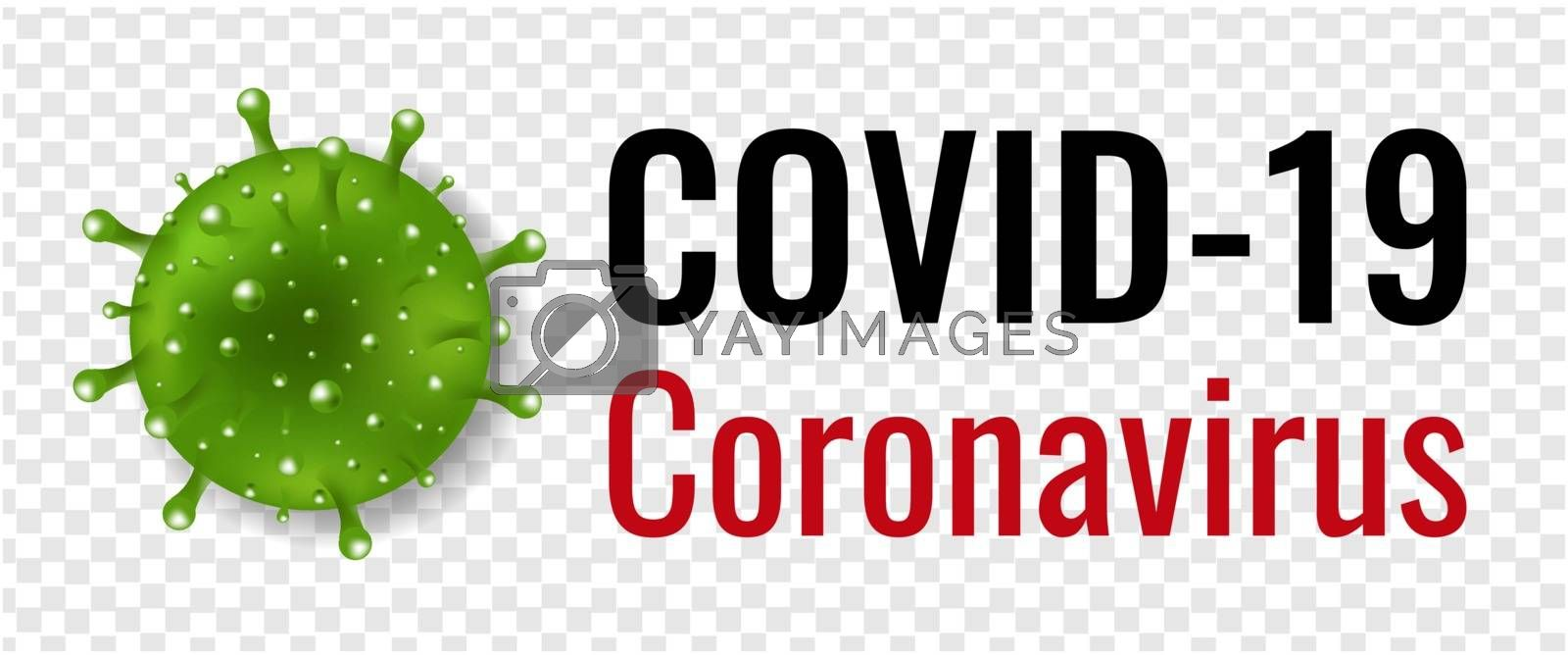 Coronavirus Poster With Transparent Background With Gradient Mesh, Vector Illustration