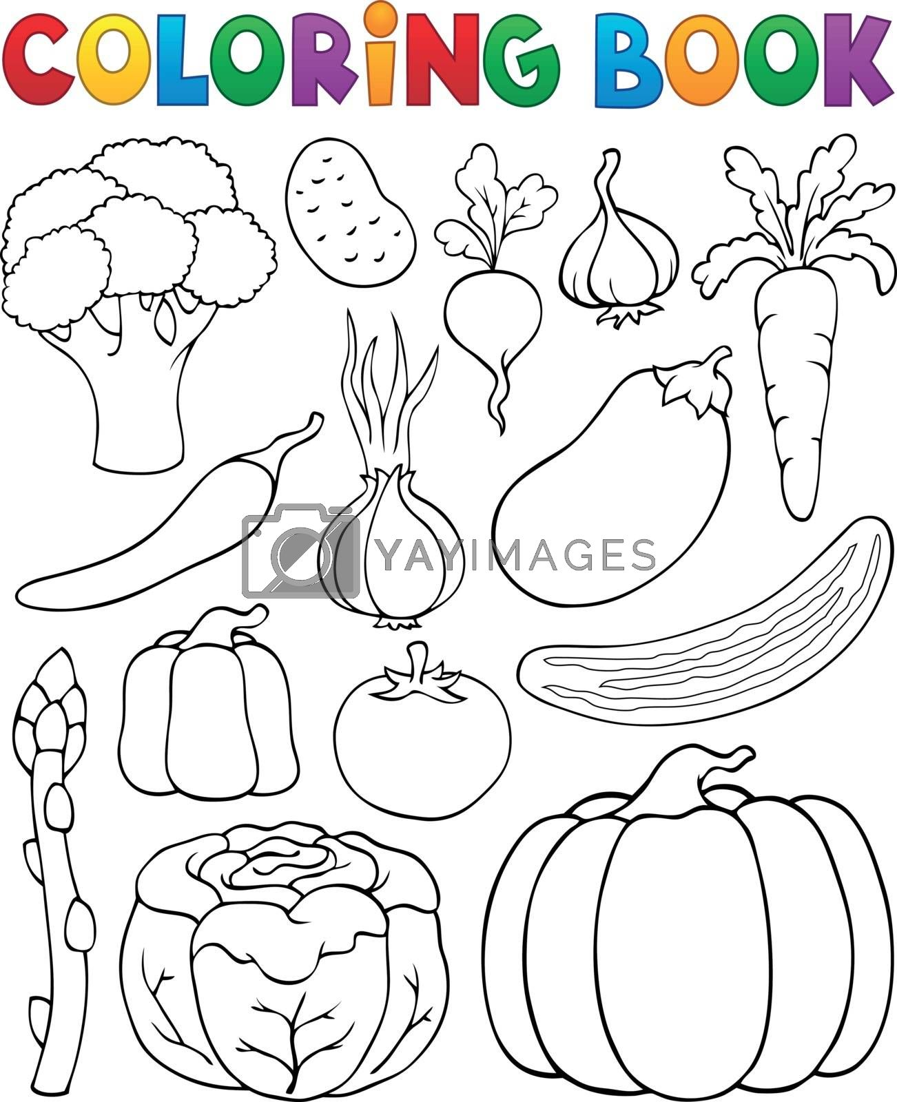 Coloring book vegetable collection 1 - eps10 vector illustration.