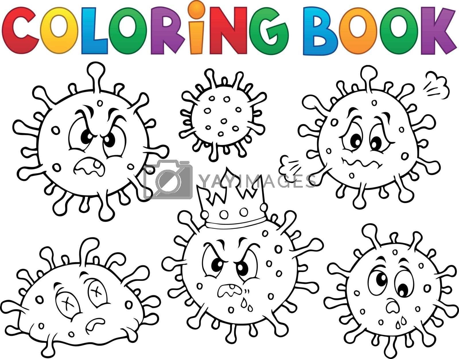 Coloring book viruses set 1 - eps10 vector illustration.