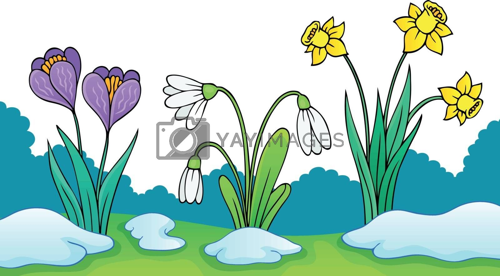 Early spring flowers theme image 2 - eps10 vector illustration.