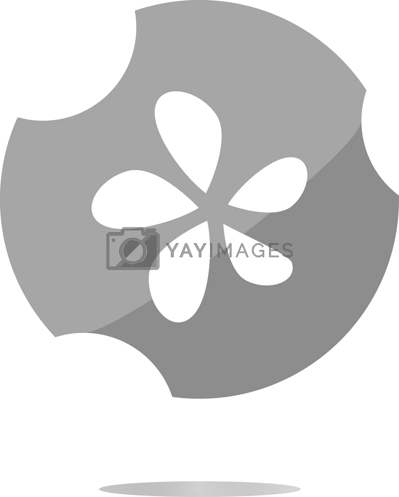 Icon button series - Leaf . Flat sign isolated on white background