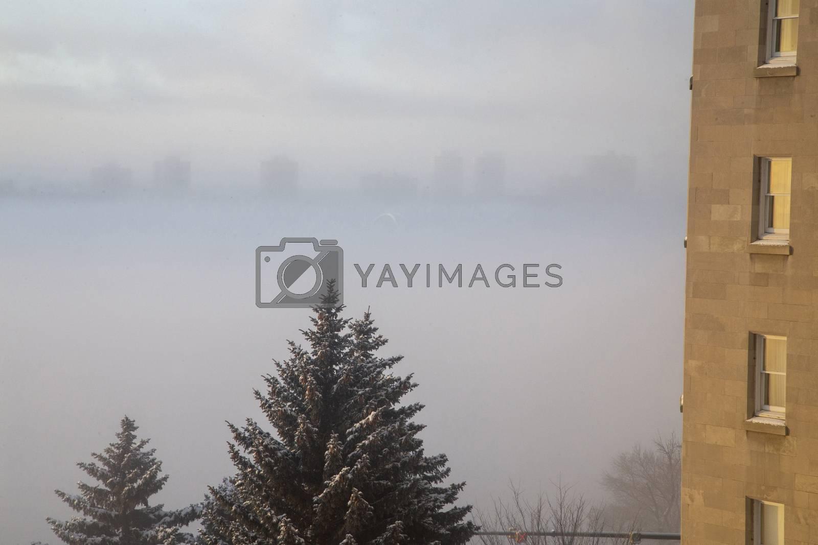 Hotel Macdonald Edmonton Sunrise over the foggy valley