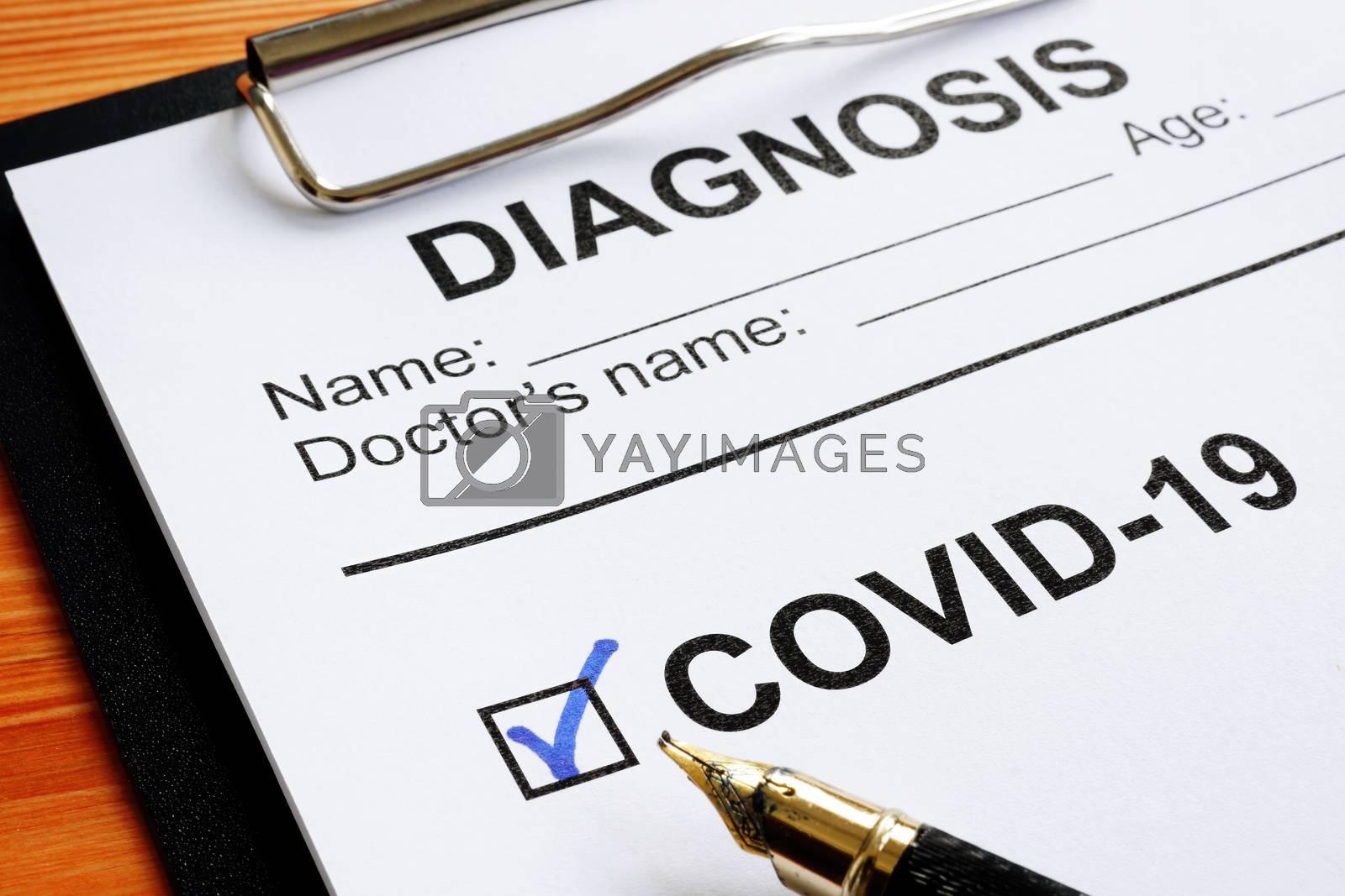 Positive diagnosis Coronavirus disease 2019 or COVID-19.