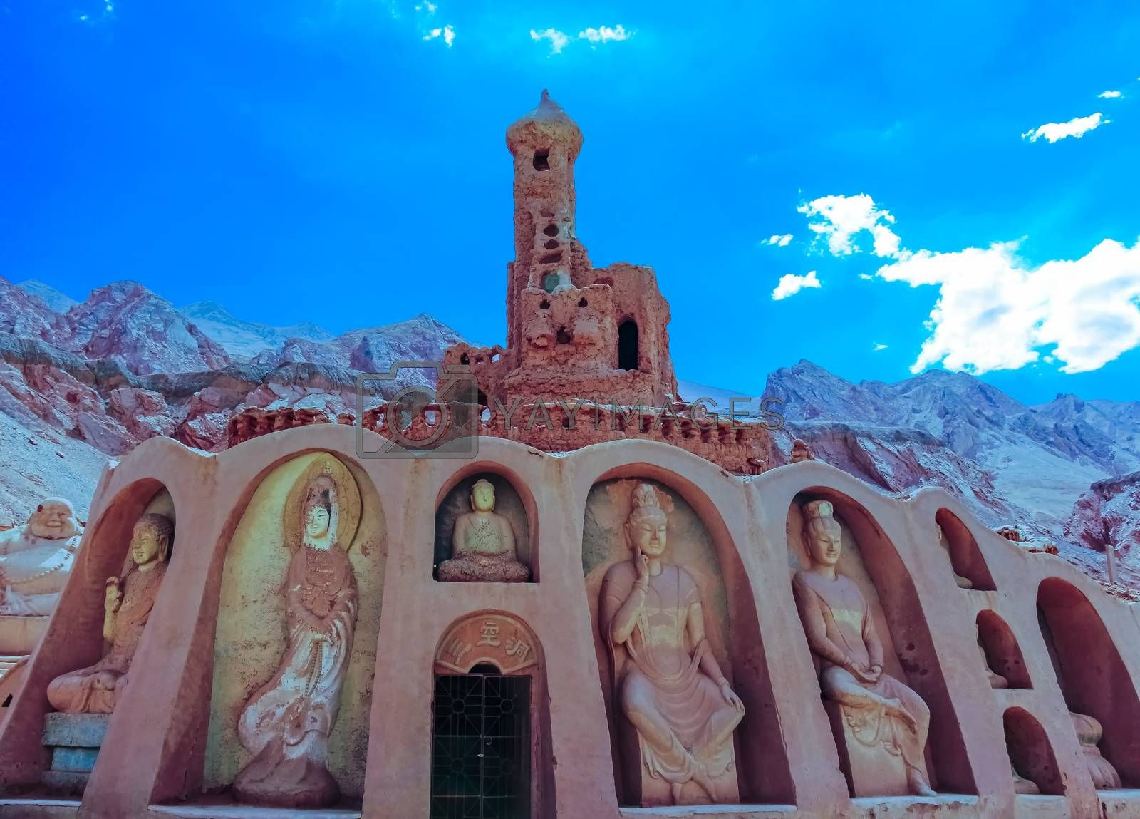 The facade of the Desert Soil Art Museum at the Flaming Mountains