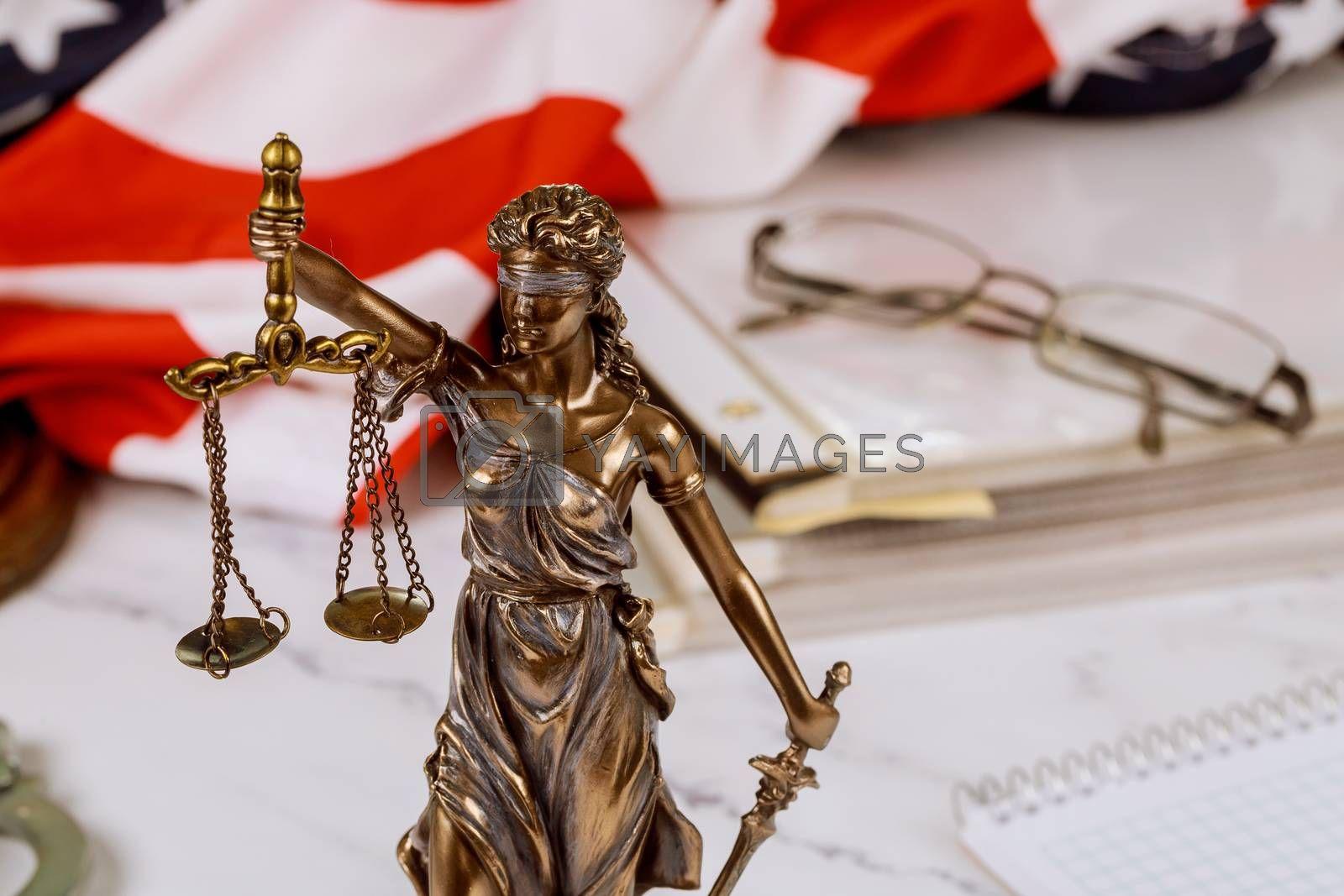 Royalty free image of Lawyer business working notary signs the documents at office by ungvar