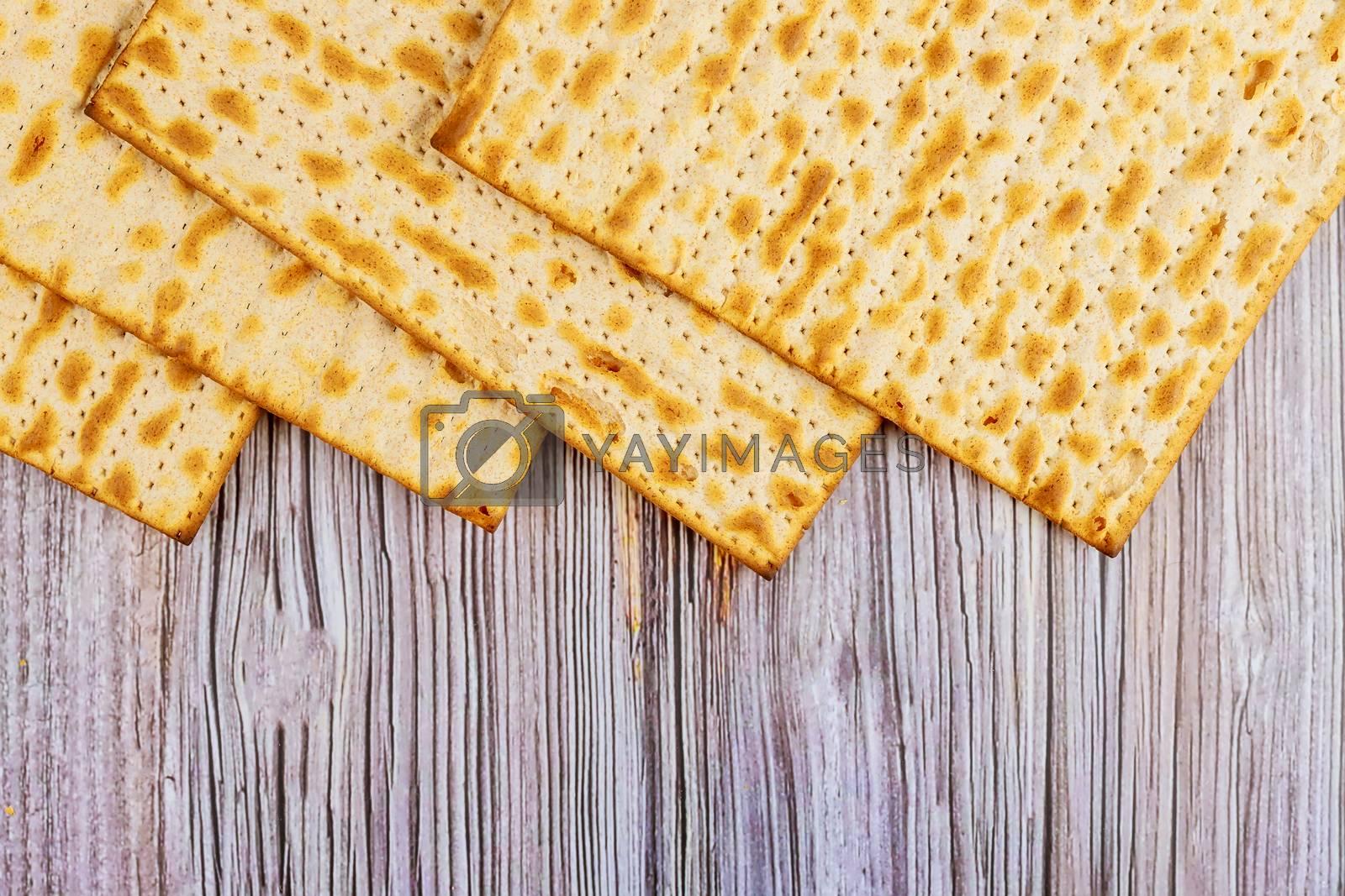 Jewish family celebrating passover matzoh jewish unleavened bread holiday
