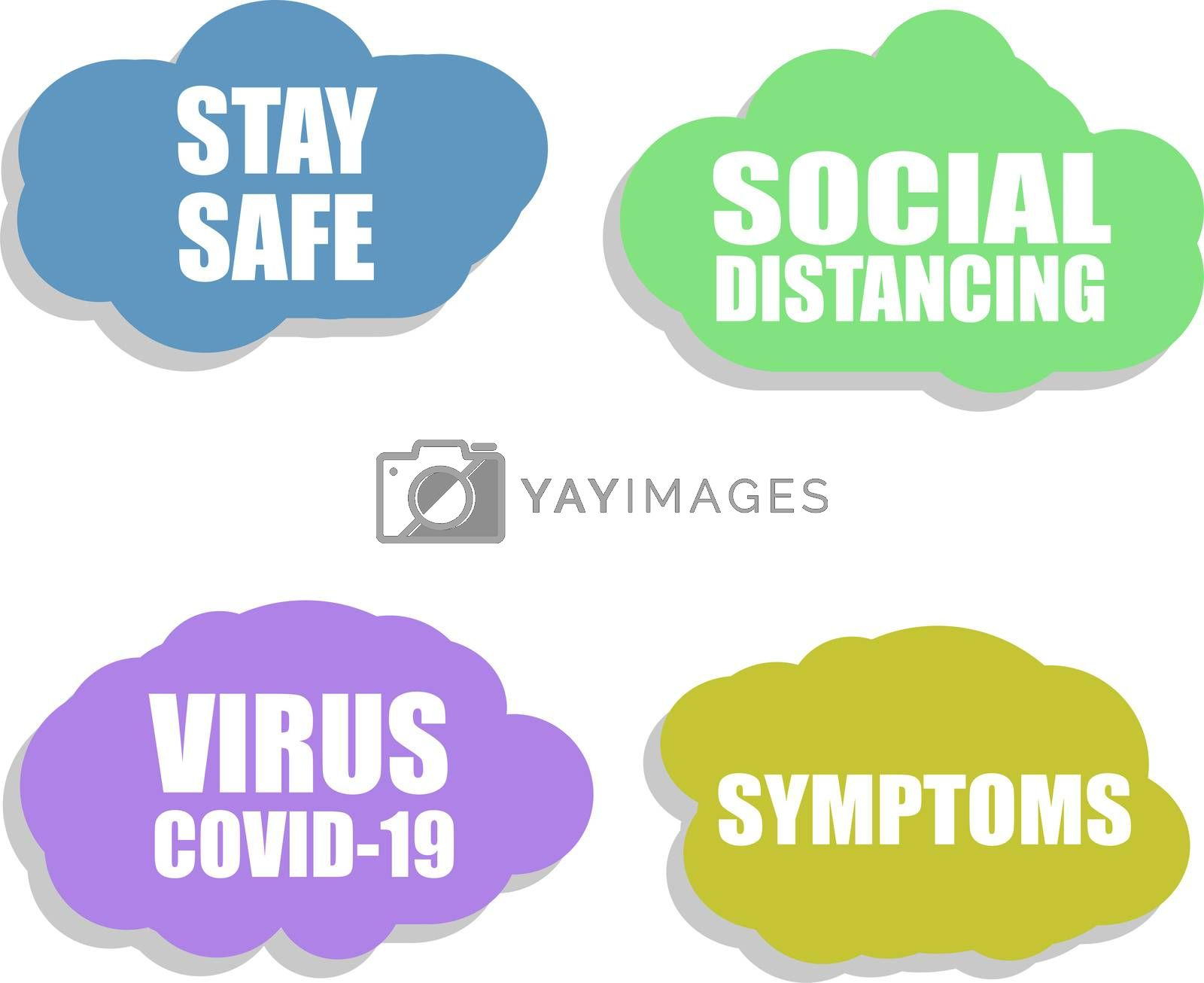 Social Distancing. Against Coronavirus icon. COVID-19 icon. Pandemic. Virus COVID 19. Stay Safe. Sign isolated on white background